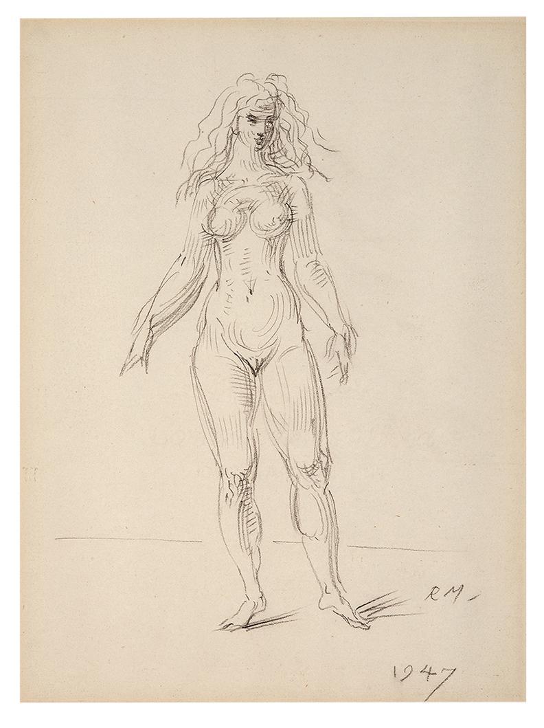 Reginald Marsh-Female Nude; Male Nude (2)-1947