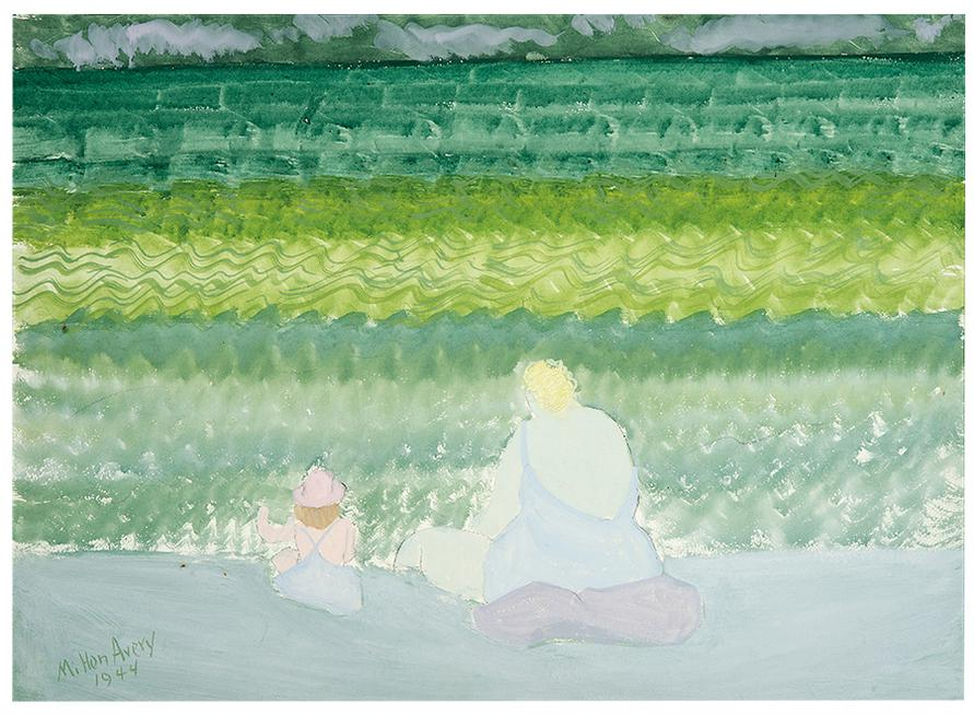 Milton Avery-Mother And Child By The Sea-1944