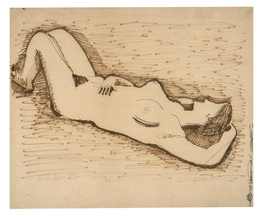 Milton Avery-Sleeping Nude-1958