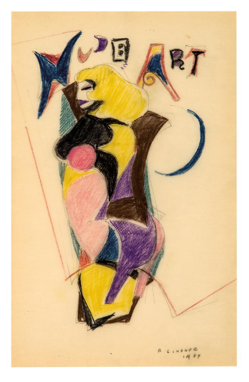 Richard Lindner-Untitled (Nude Art)-1964