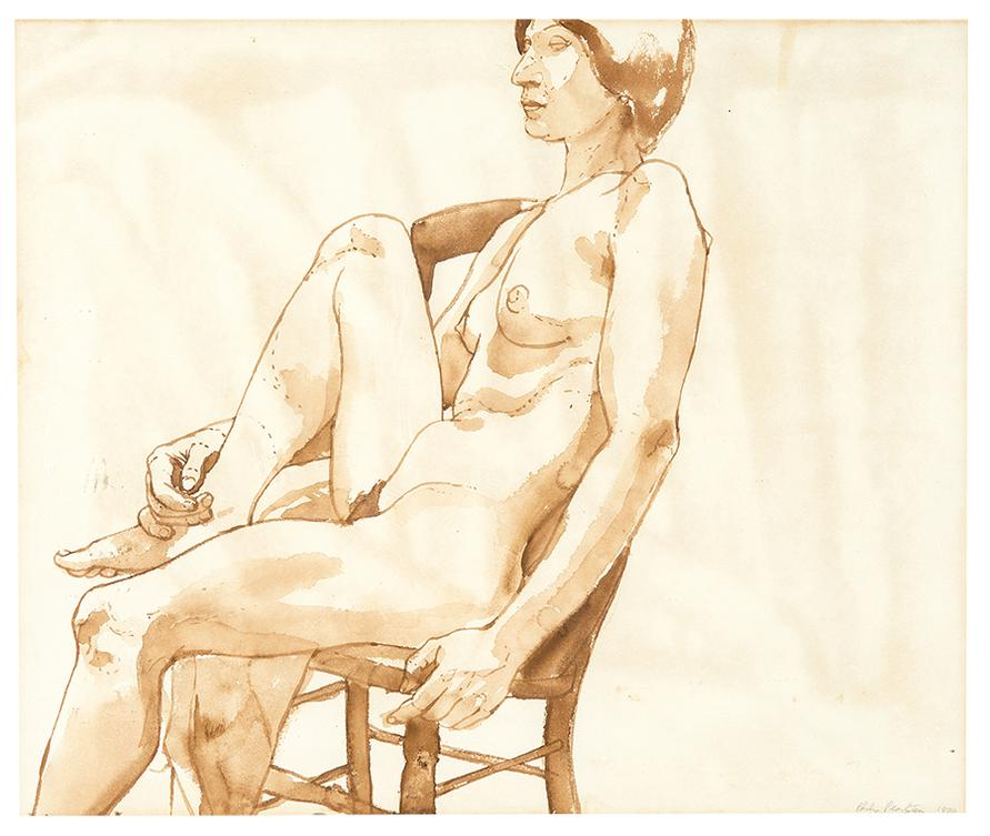 Philip Pearlstein-Seated Nude-1970
