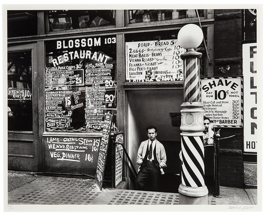 Berenice Abbott-Blossom Restaurant, 103 Bowery, Lower East Side, New York-1935