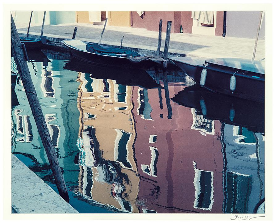 Gene Young - Canal Reflection, Burano, Italy, July 1992-1992