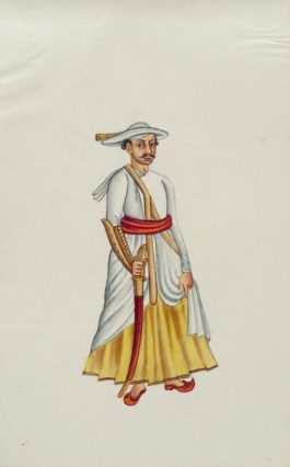 Company Painting - Maratha Warrior-1850