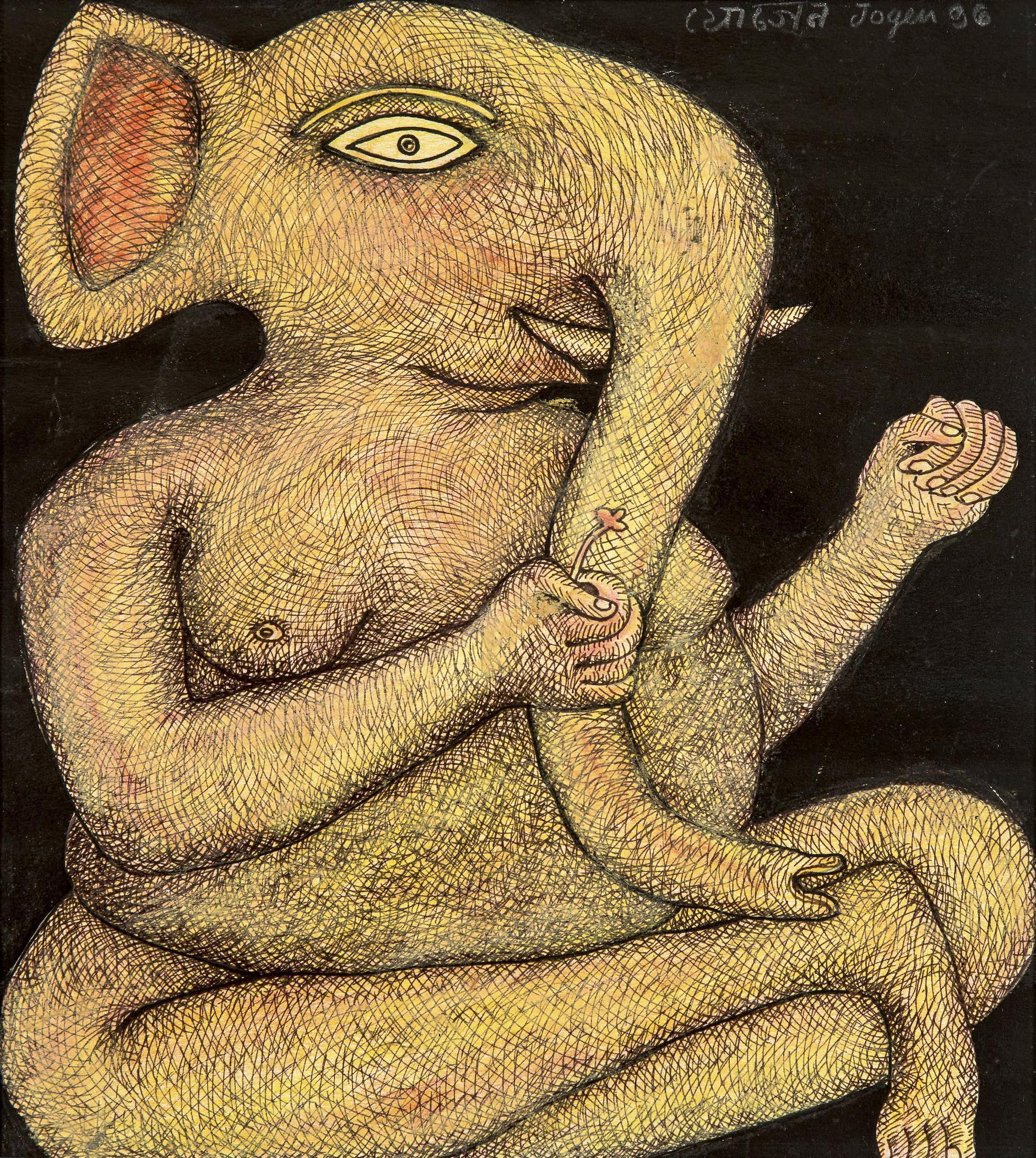Jogen Chowdhury-Ganesha-1996