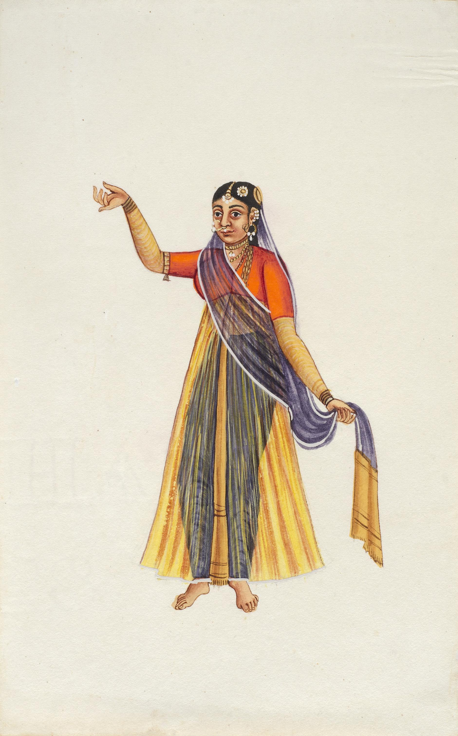 Company Painting - Woman Dancer-1850