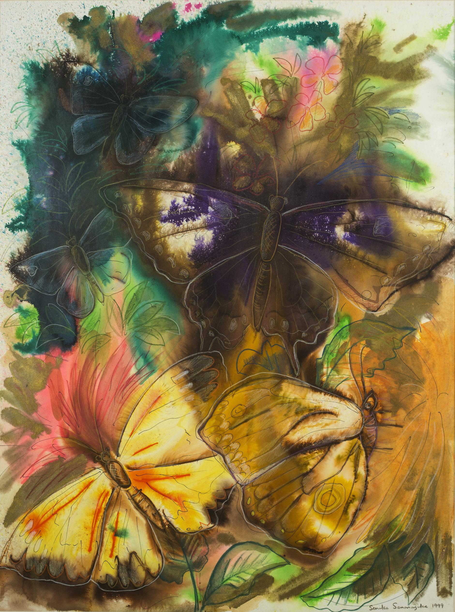 Senaka Senanayake-Untitled (Butterflies)-1999