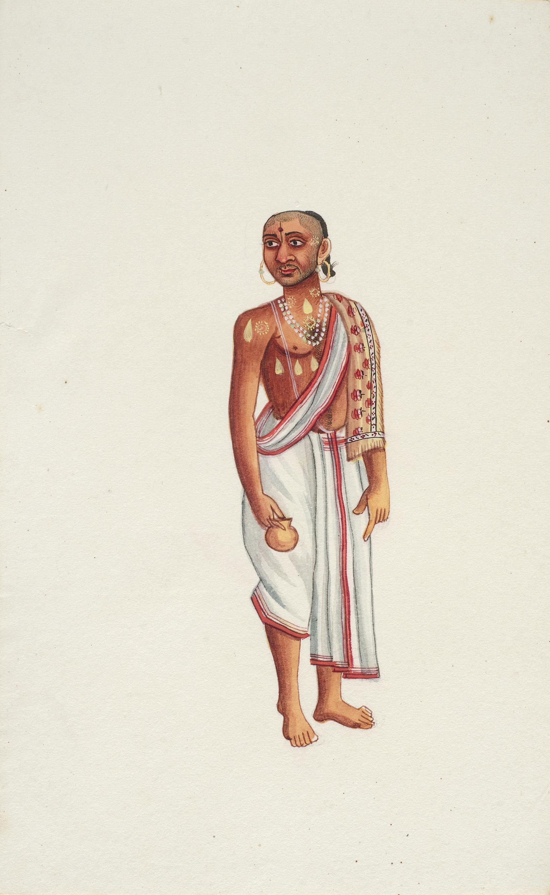 Company Painting - Brahmin With A Waterpot-1850