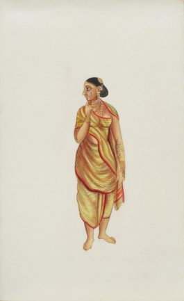 Company Painting - Woman In Thought-1850