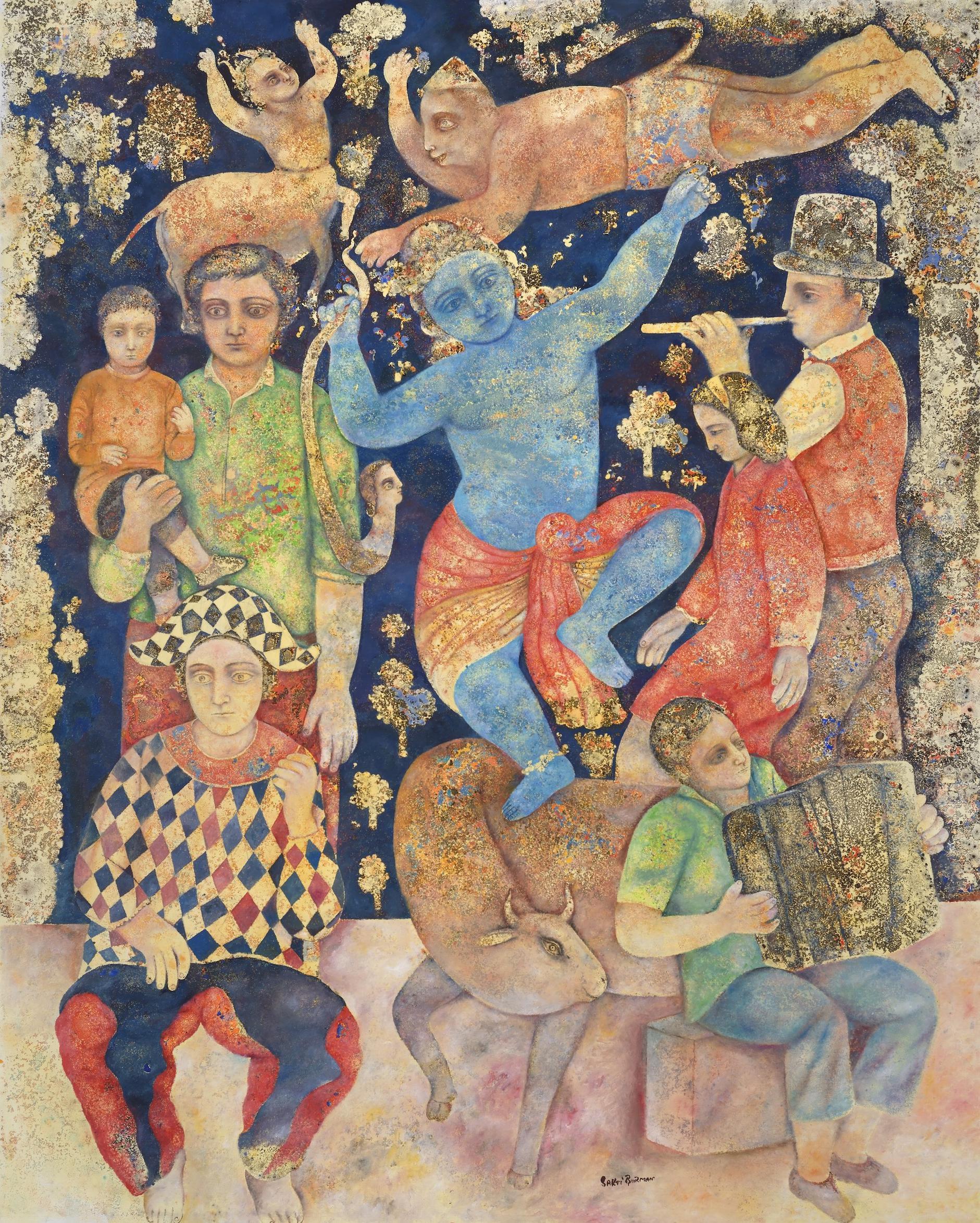 Sakti Burman-Musicians Playing For Krishna-2015
