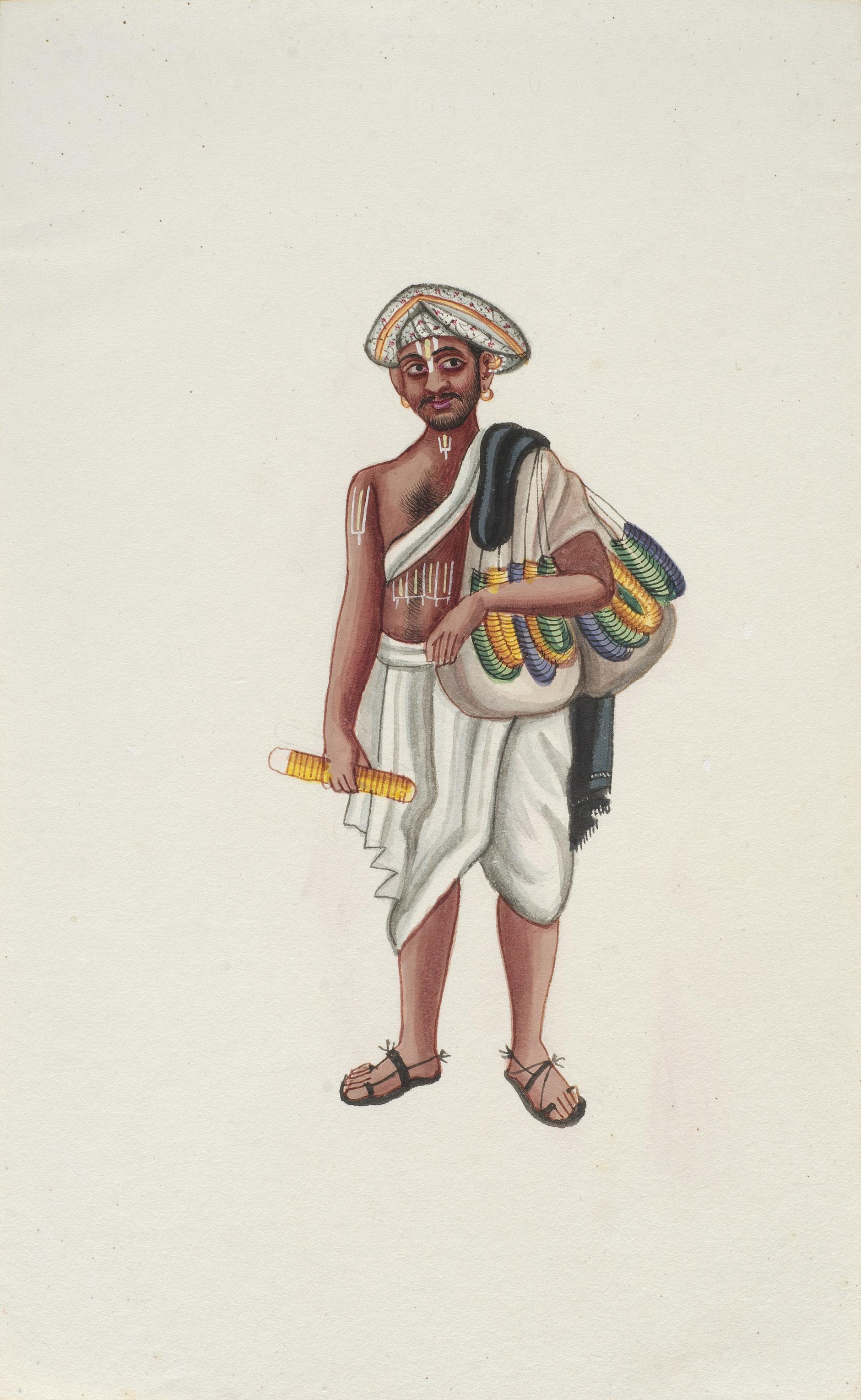 Company Painting - Bangle Seller-1850