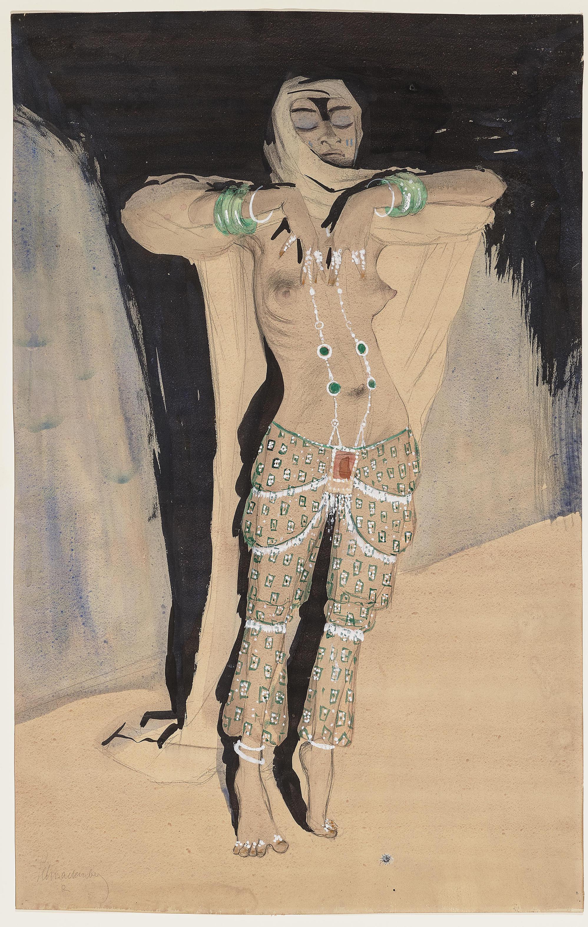 Walter Schnackenberg-Tanzerin (Dancer)-1912