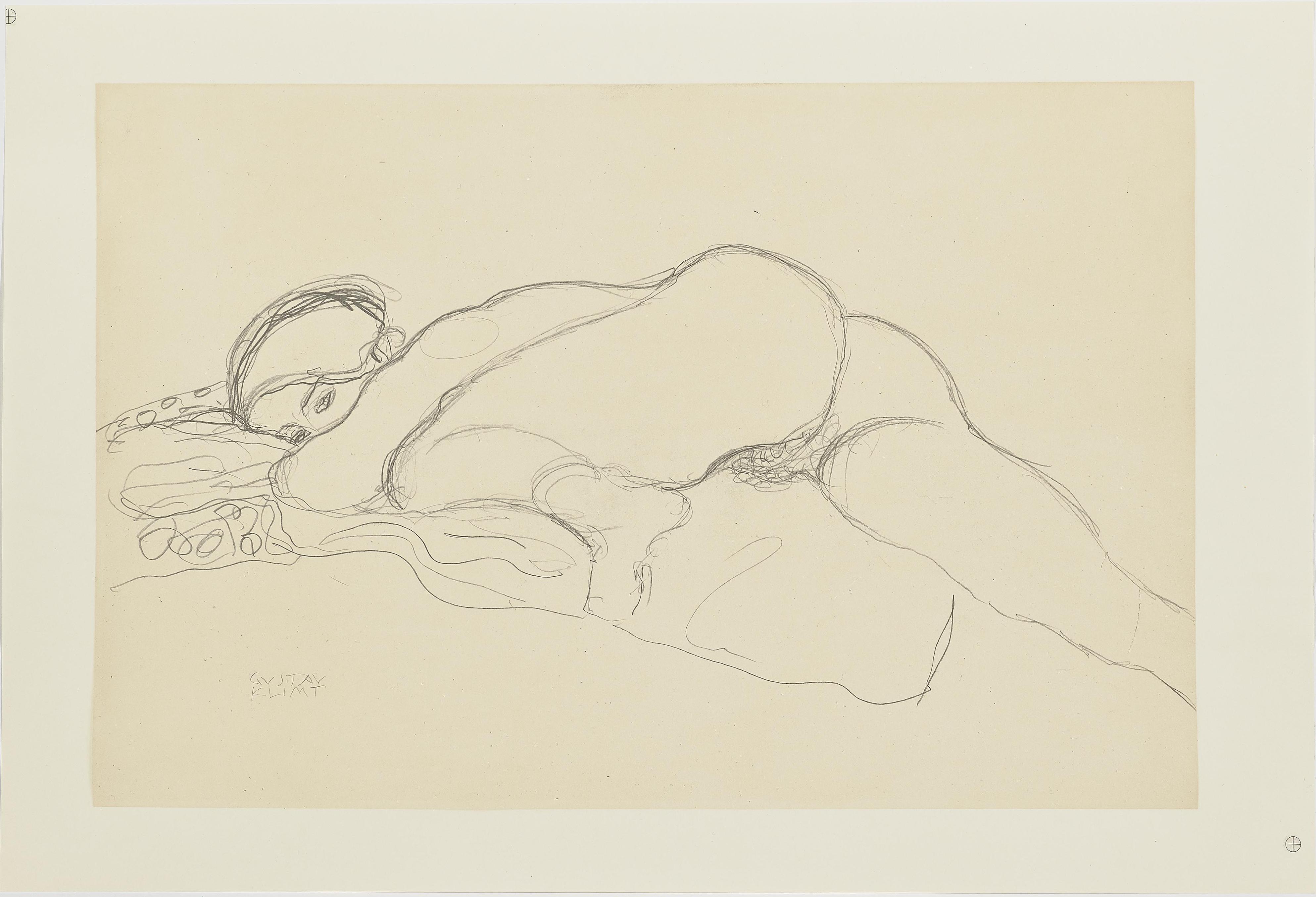 Gustav Klimt-25 Zeichnungen (25 drawings)-