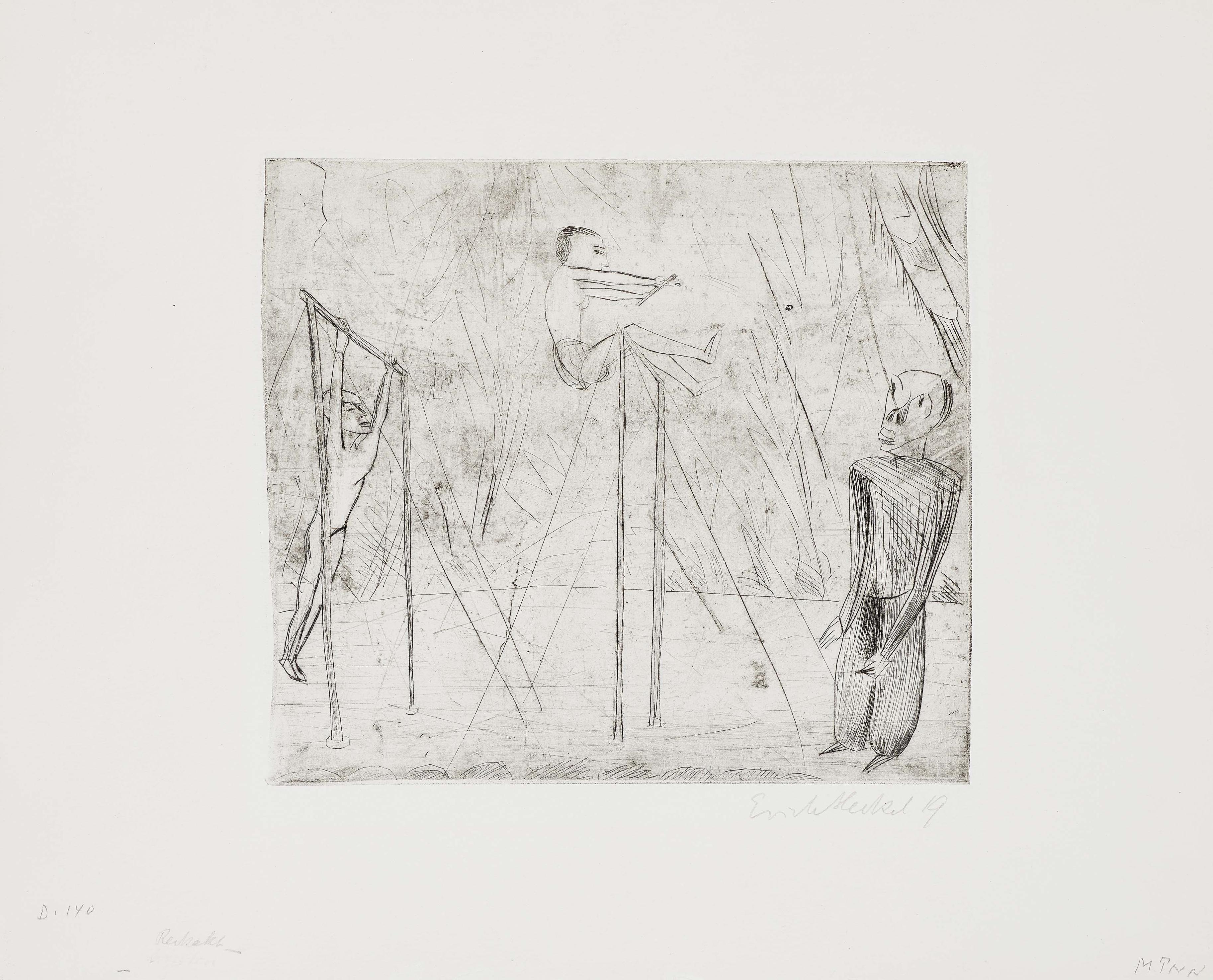 Erich Heckel-Reckakt (The horizontal bars)-1919