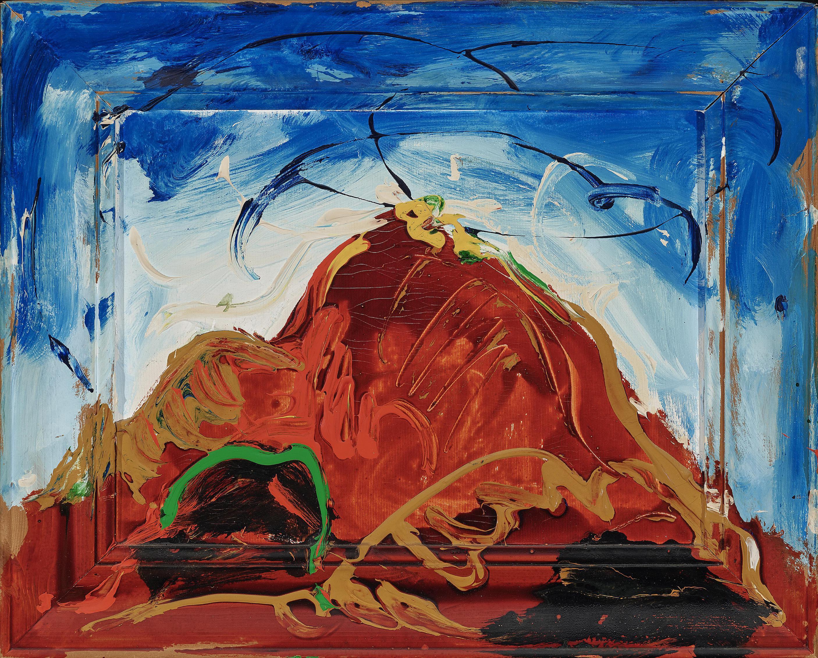 Mario Schifano-Ohne Titel (Roter Berg)-