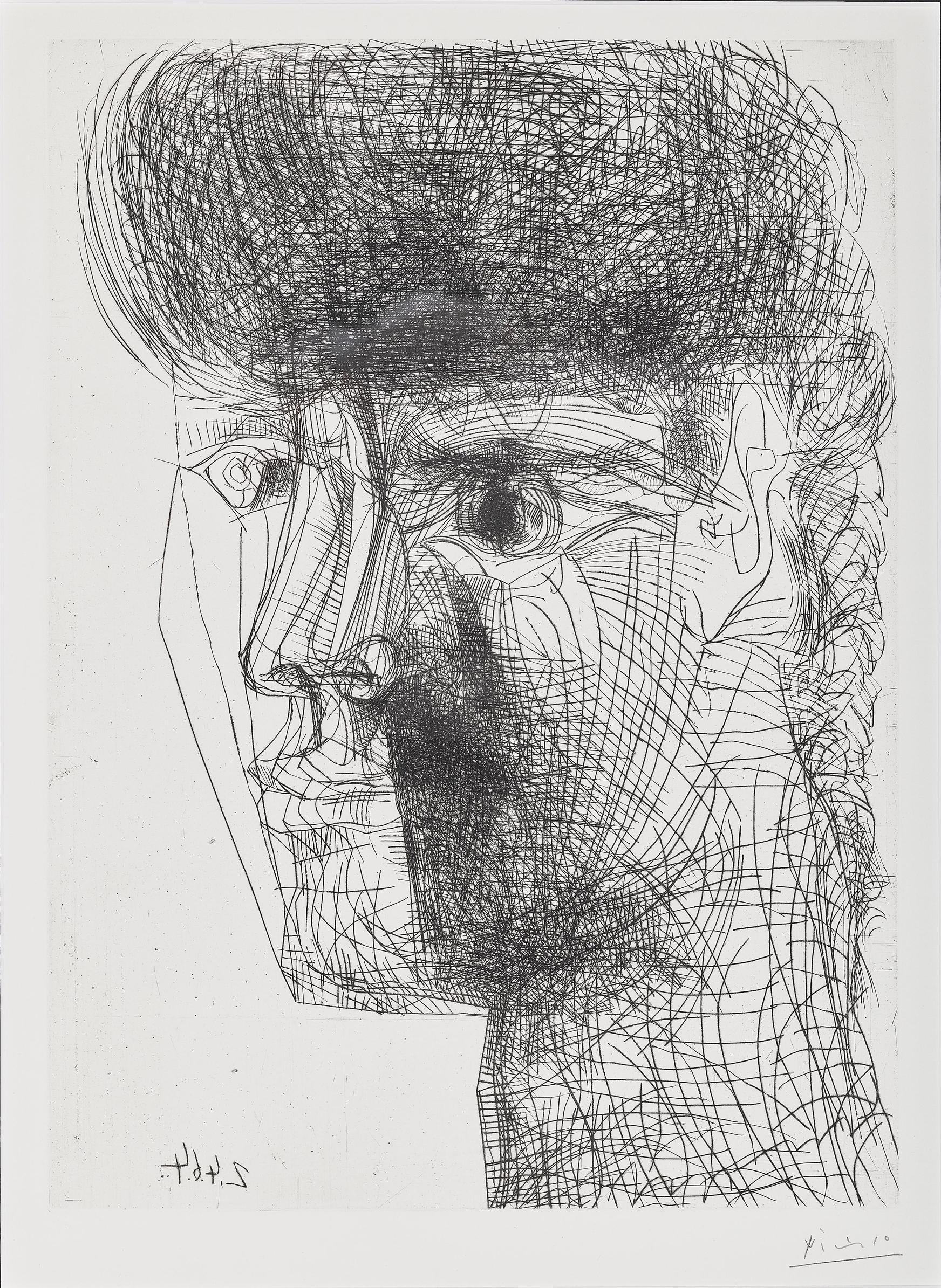Pablo Picasso-Portrait De Jeune Fille-1964