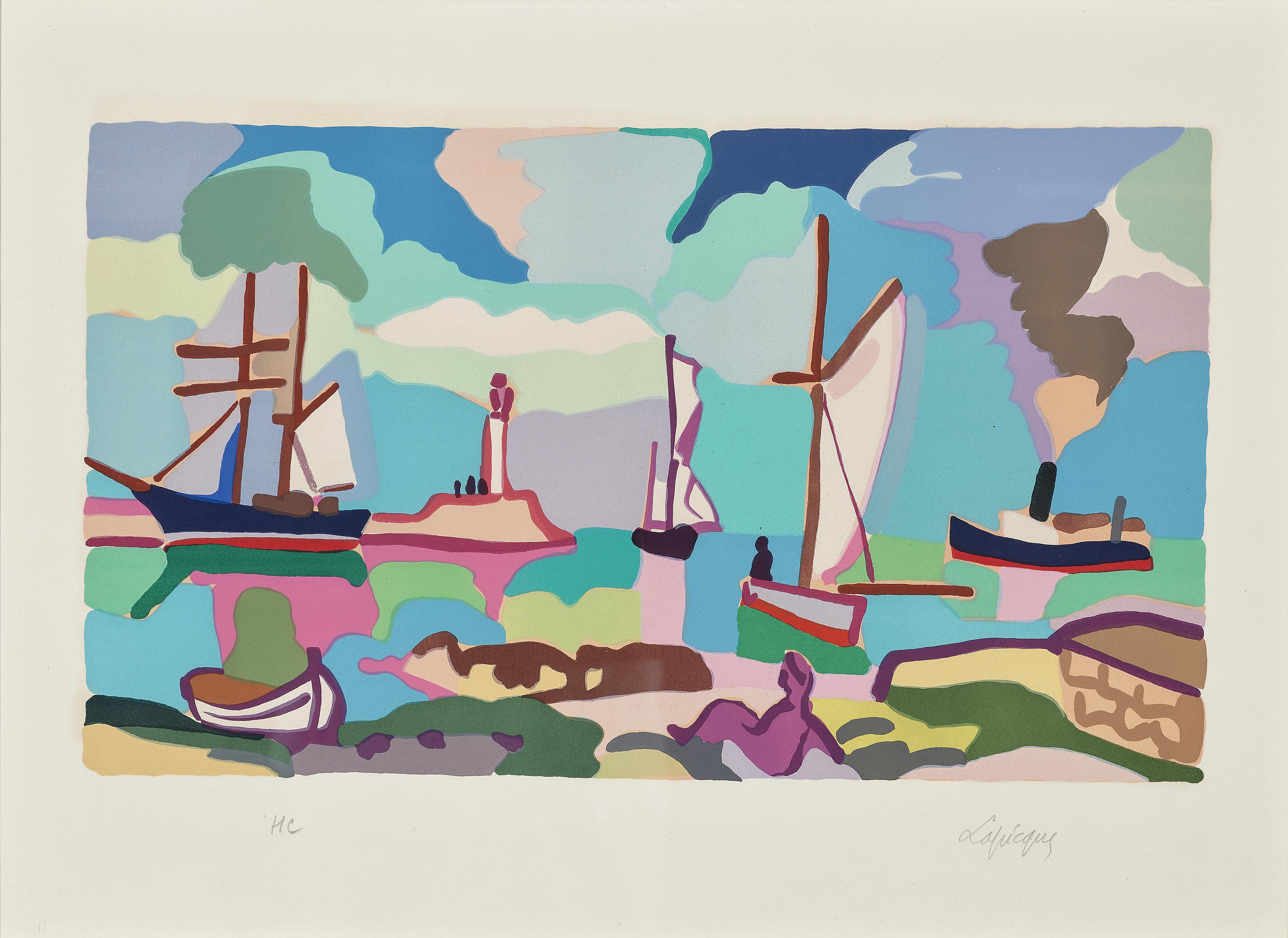 Charles Lapicque-Quetzalcoatl, 1957; Hommage A Boudin, 1970-1970