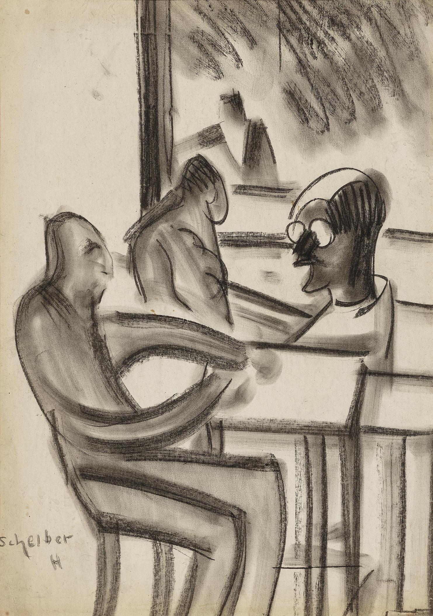 Hugo Scheiber-Bei Tisch (At the Table)-