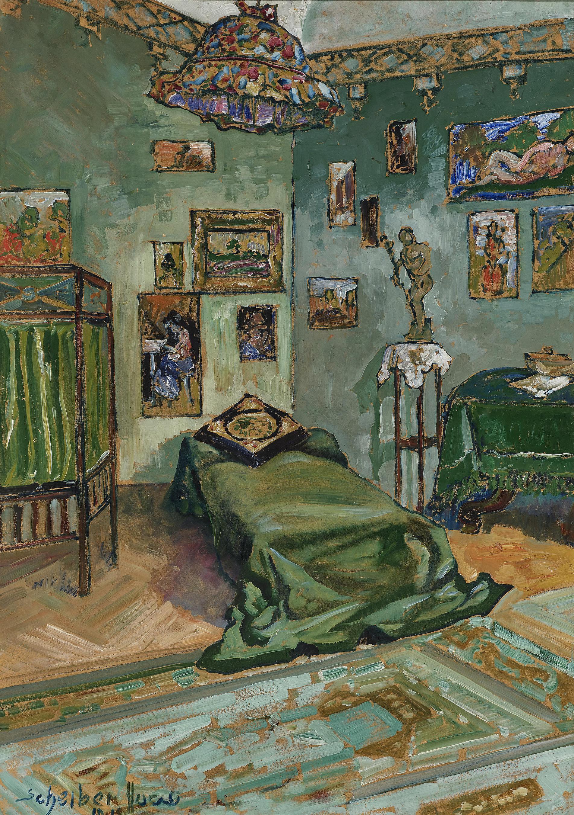 Hugo Scheiber-Interieur (Atelier Des Kunstlers?); Interior (Artists Studio?)-1918
