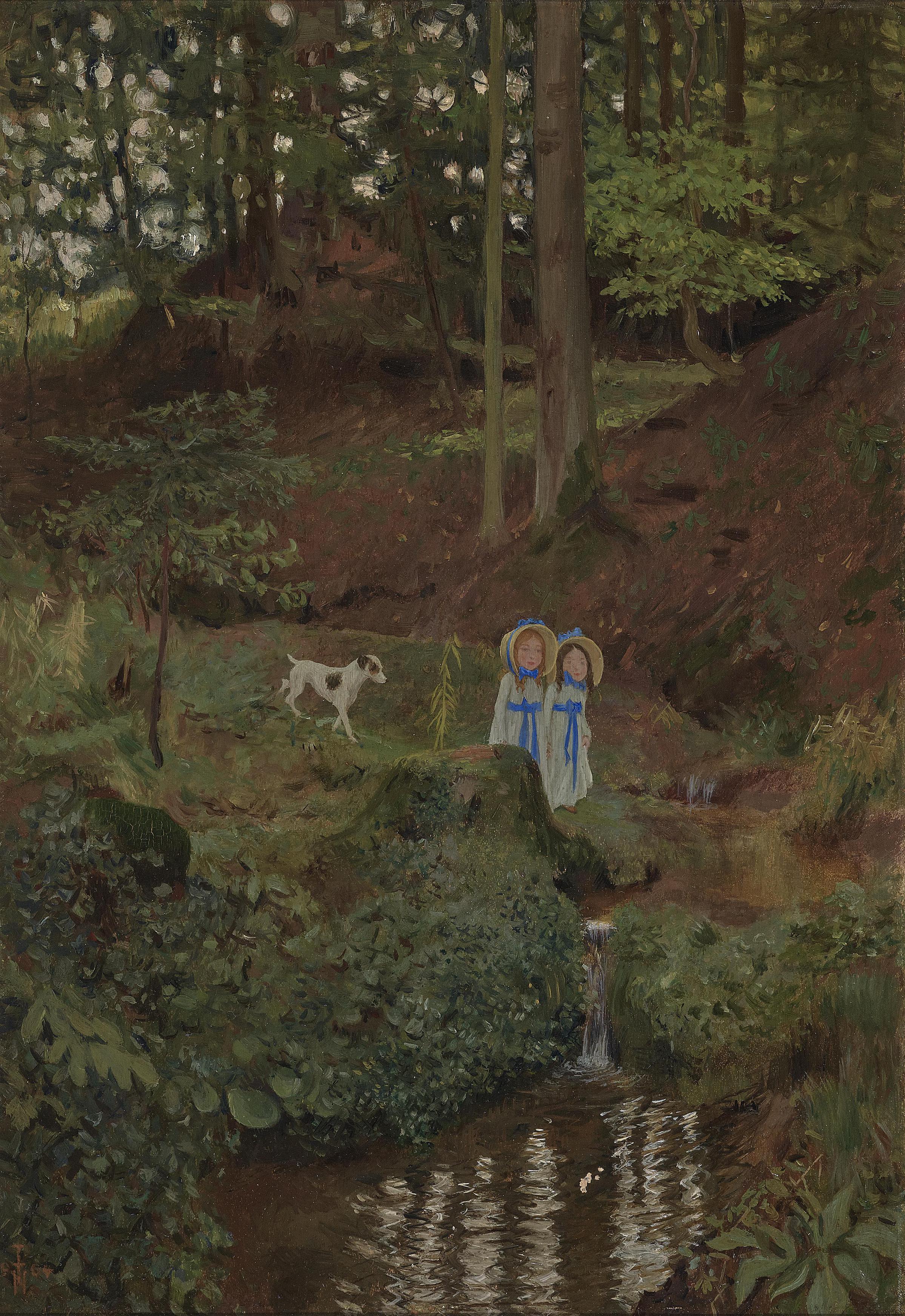 Thomas Theodor Heine-Die Kinder Im Walde (The children in the woods)-1904