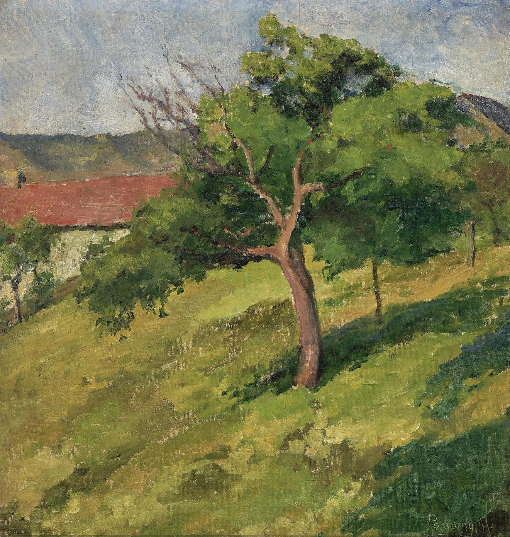 Margit Pogany - Landschaft Mit Baum (Landscape with Tree)-