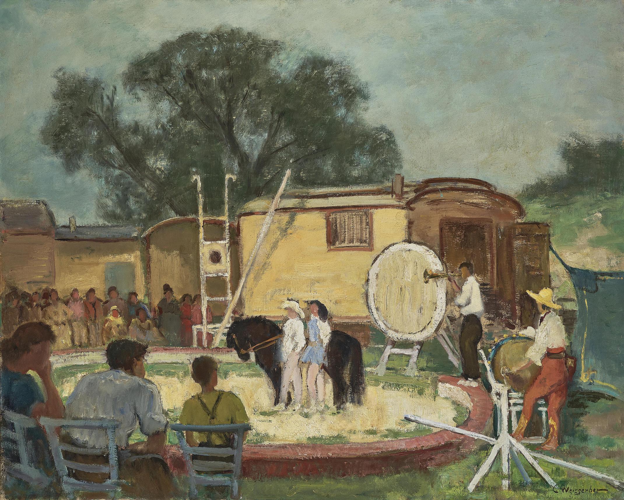 Carl Weisgerber - Zirkusszene (Circus Scene)-
