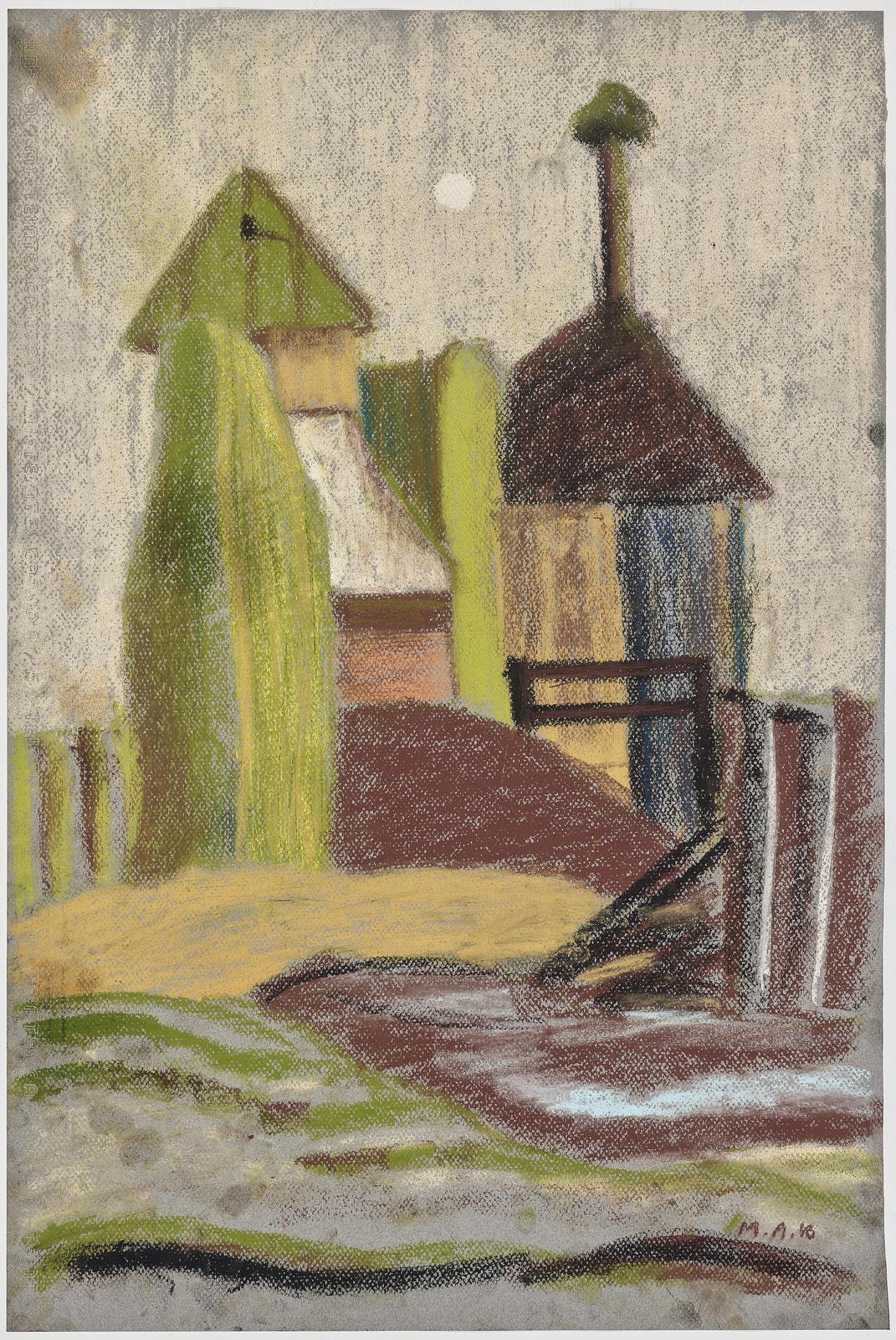 Milos Alexander Bazovsky - Landschaft Mit Hausern (Landscape with houses)-