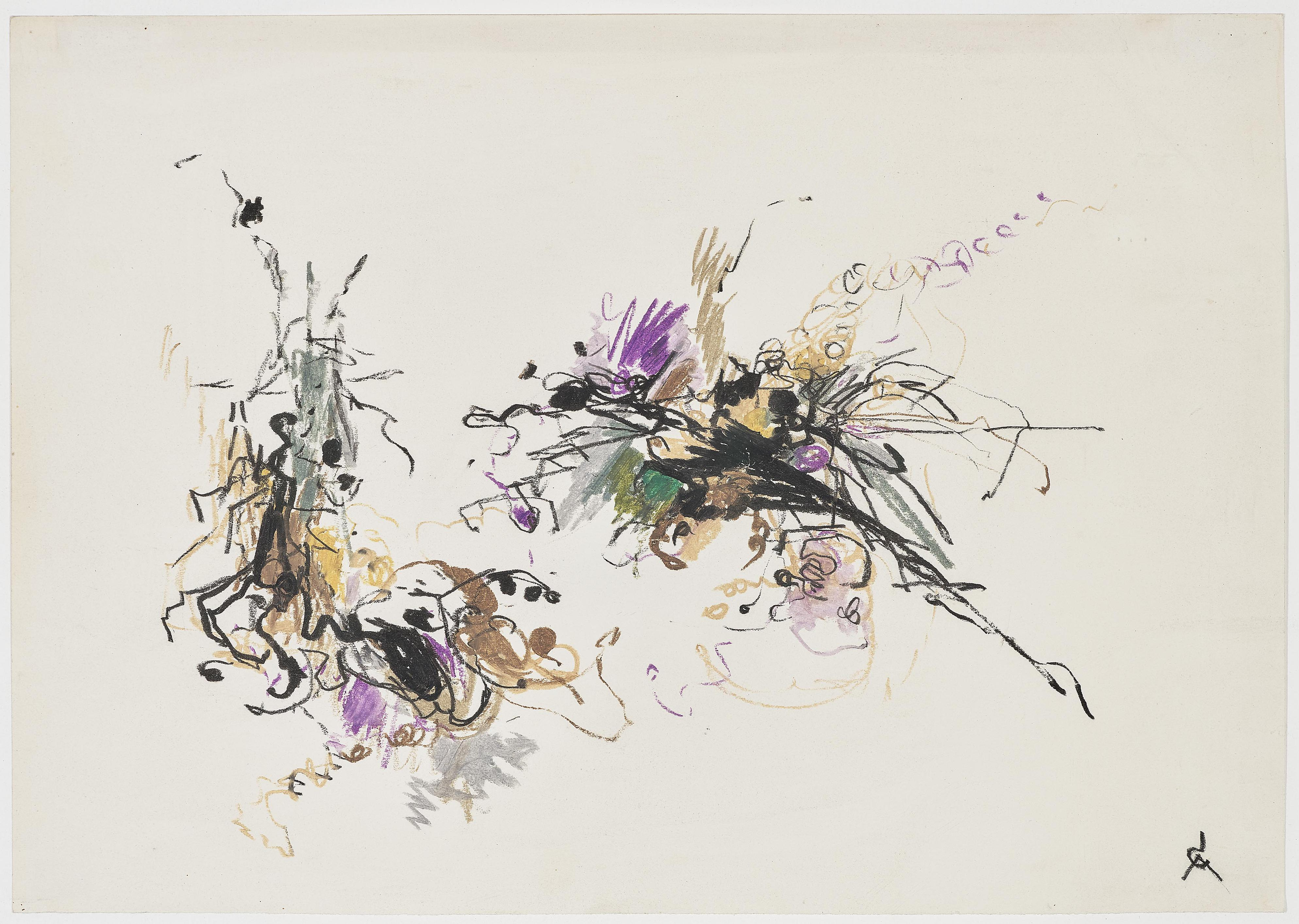 Rolf Cavael - O.T, 2 drawings-1967