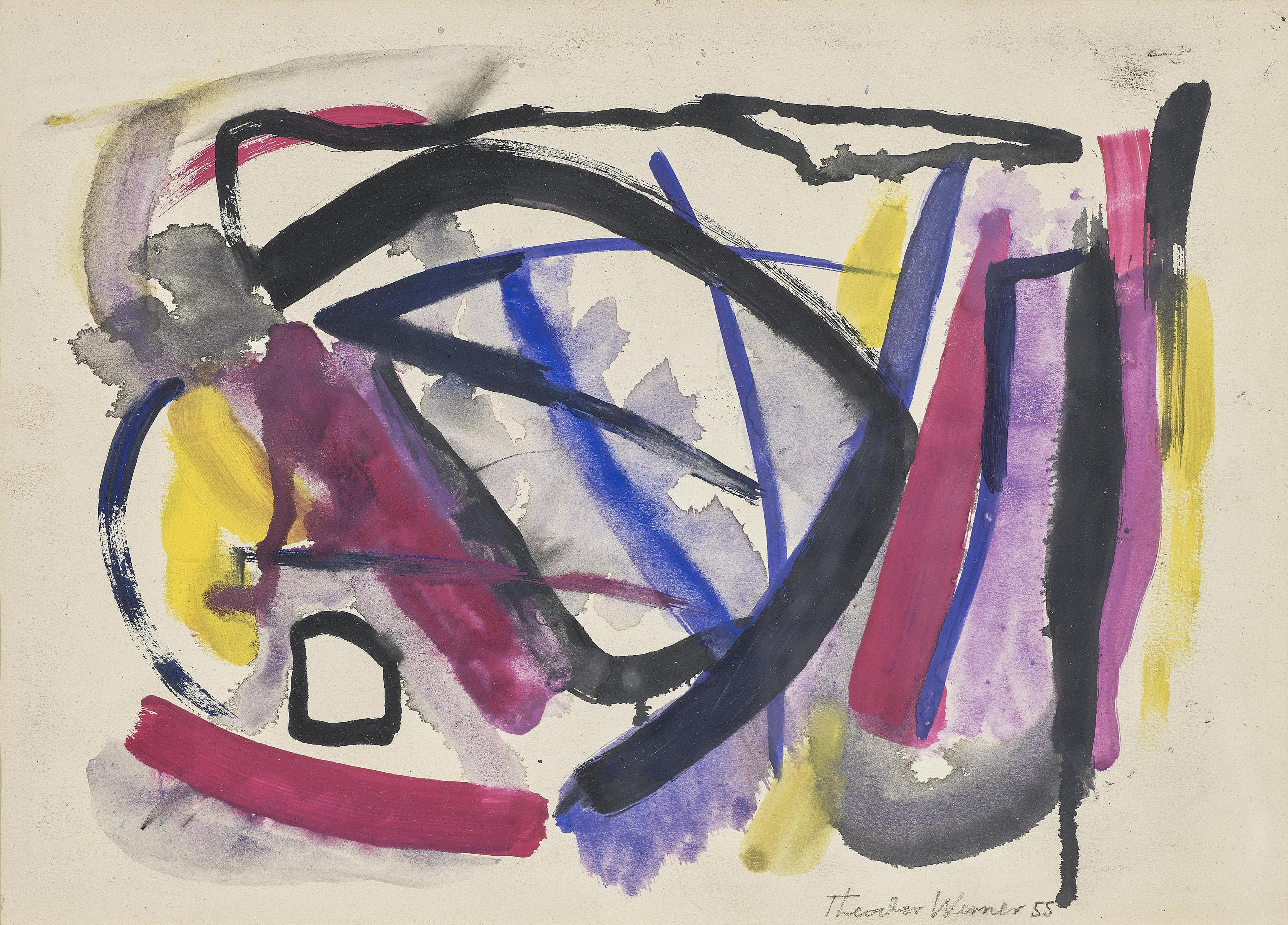Theodor Werner - Abstrakte Komposition (Abstract Composition)-1955