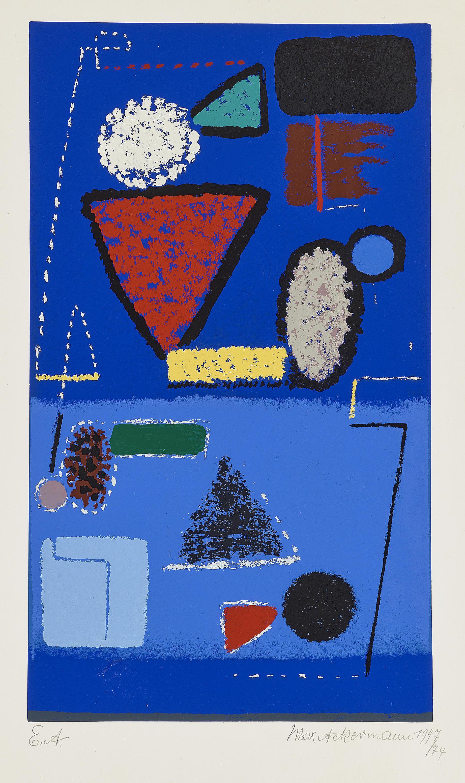 Max Ackermann - Abstrakte Kompositionen (Abstract composition)-1974