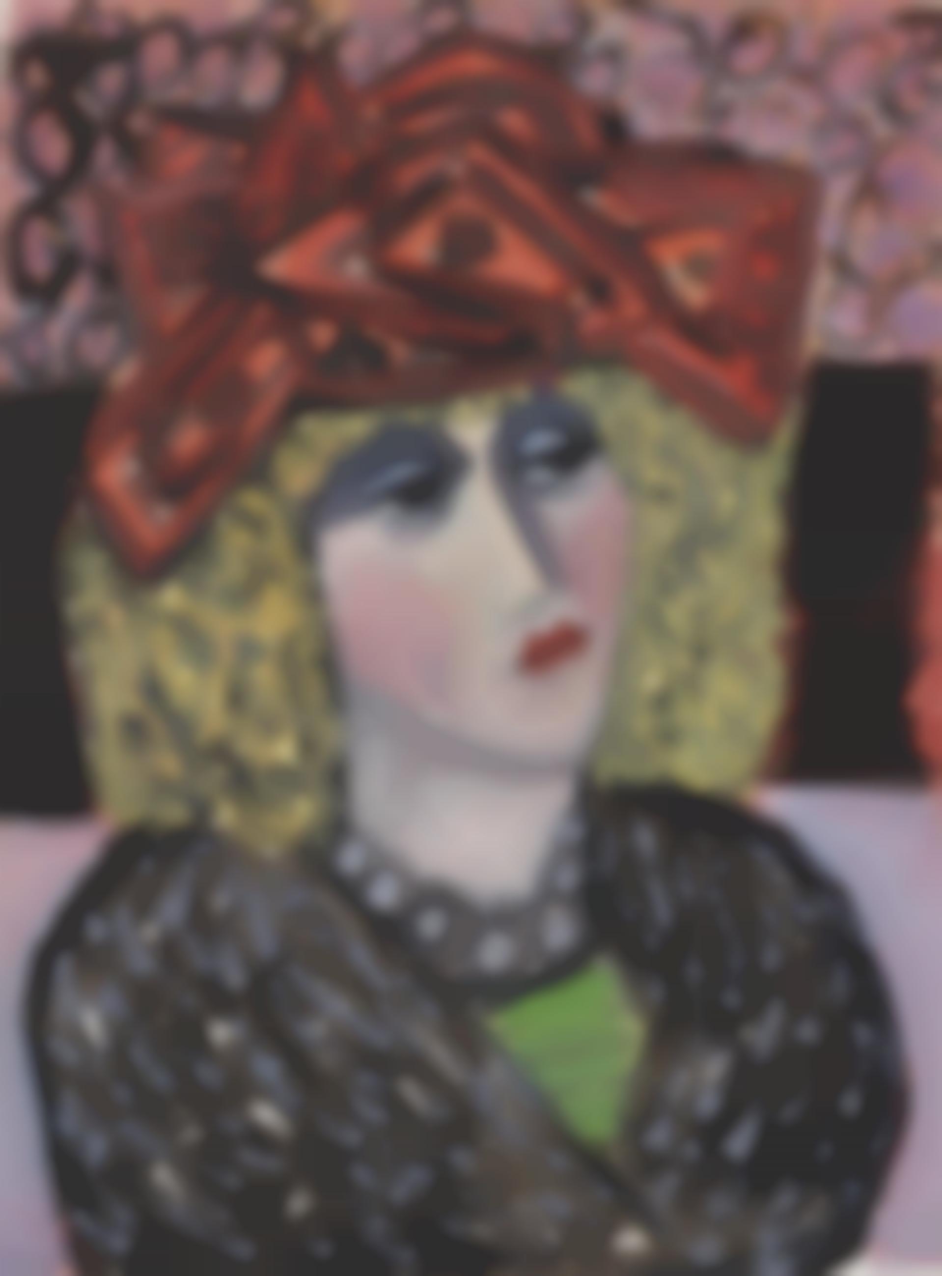 Johann Georg Muller-Bildnis Einer Geschminkten Frauvor (Portrait of a painted lady)-1959
