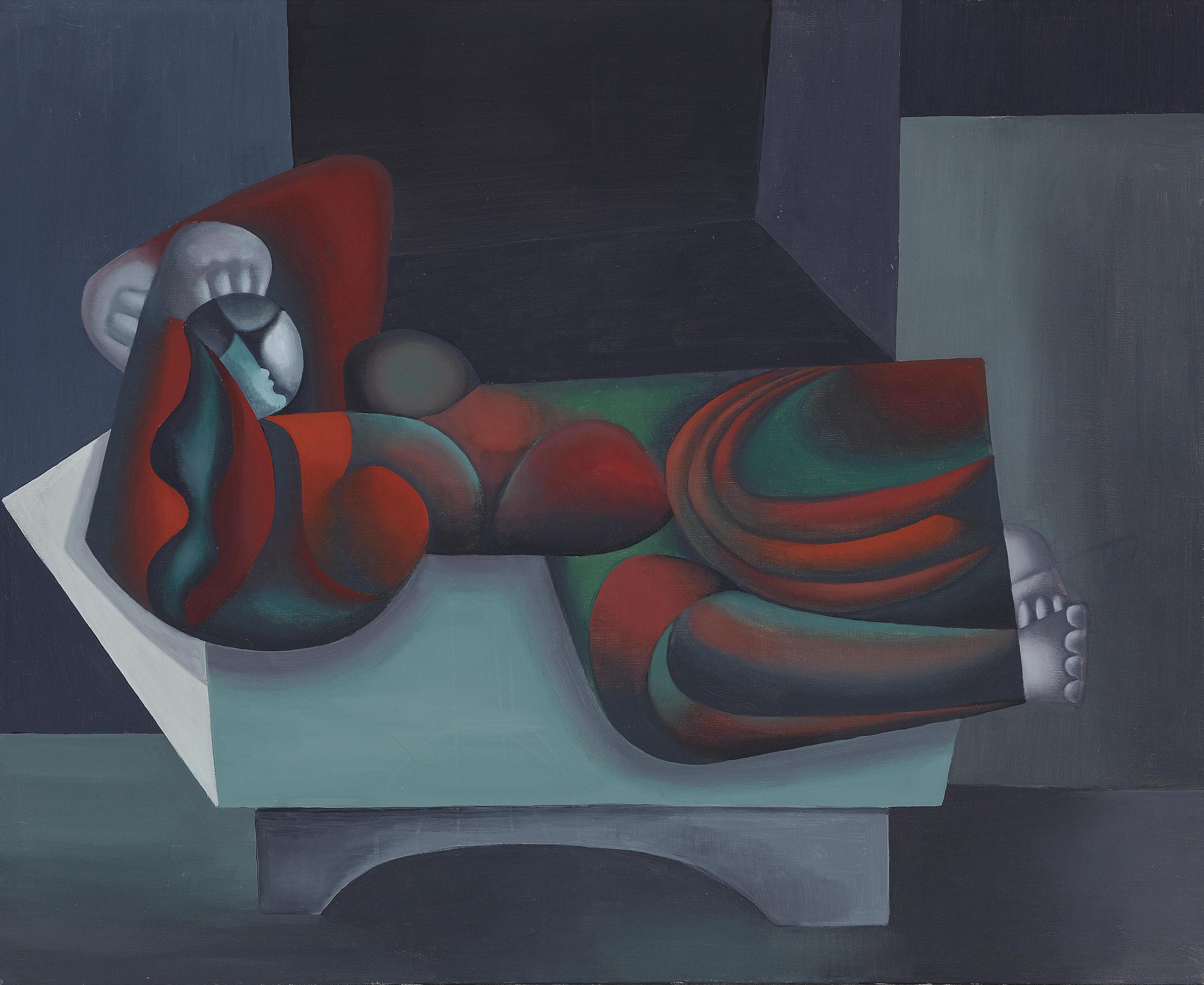 Johann Georg Muller-Liegende (Reclining figure)-1962
