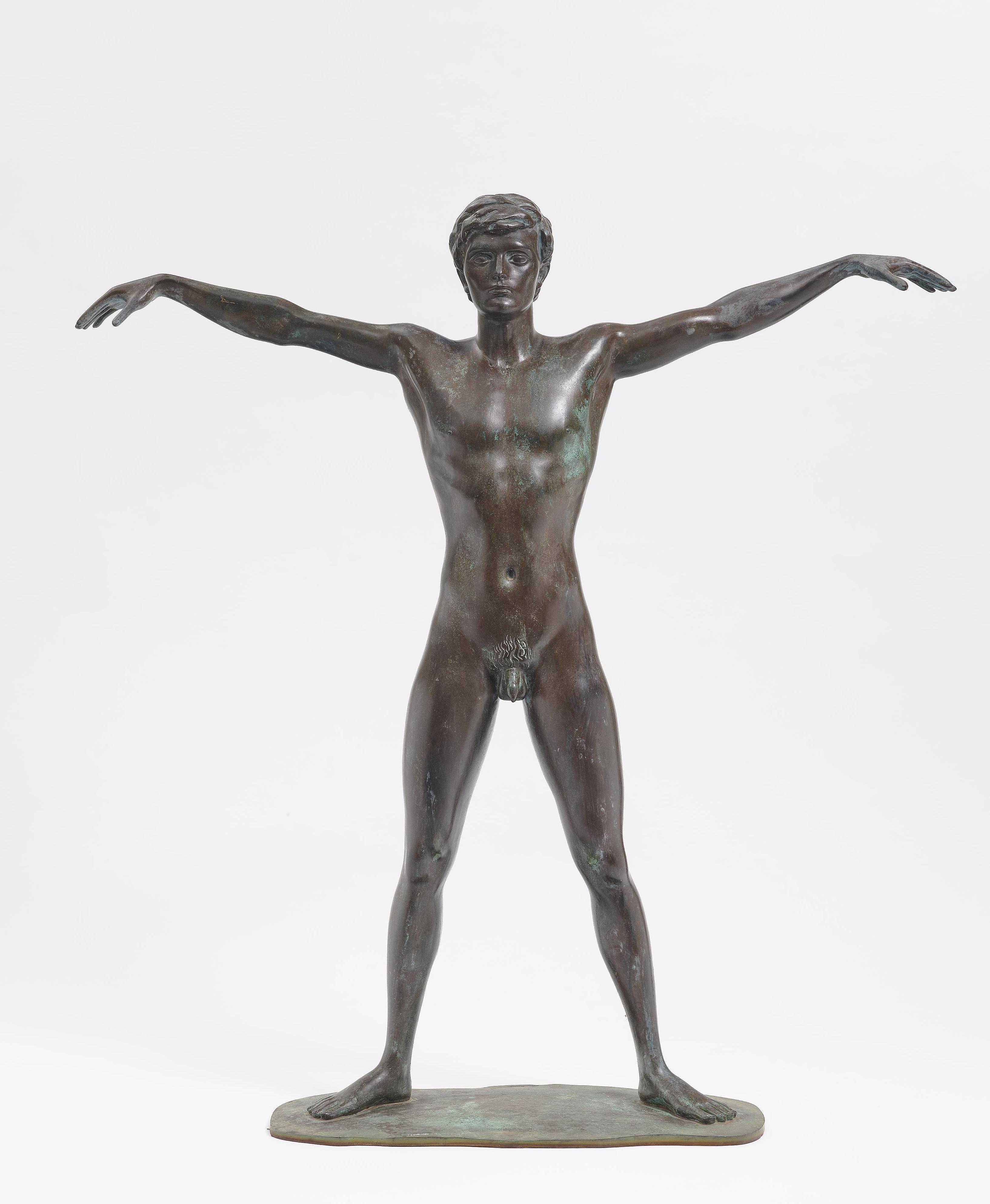 Arno Breker - Junges Europa. Der Schwimmer Walter Kusch (Young Europe. The Swimmer Walter Kusch)-1976