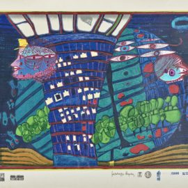 Friedensreich Hundertwasser-Flucht Ins All (Escape Into Space)-1971