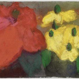 Klaus Fussmann-Mohn Mit Gelben Blumen (Poppy with Yellow Flowers)-1990