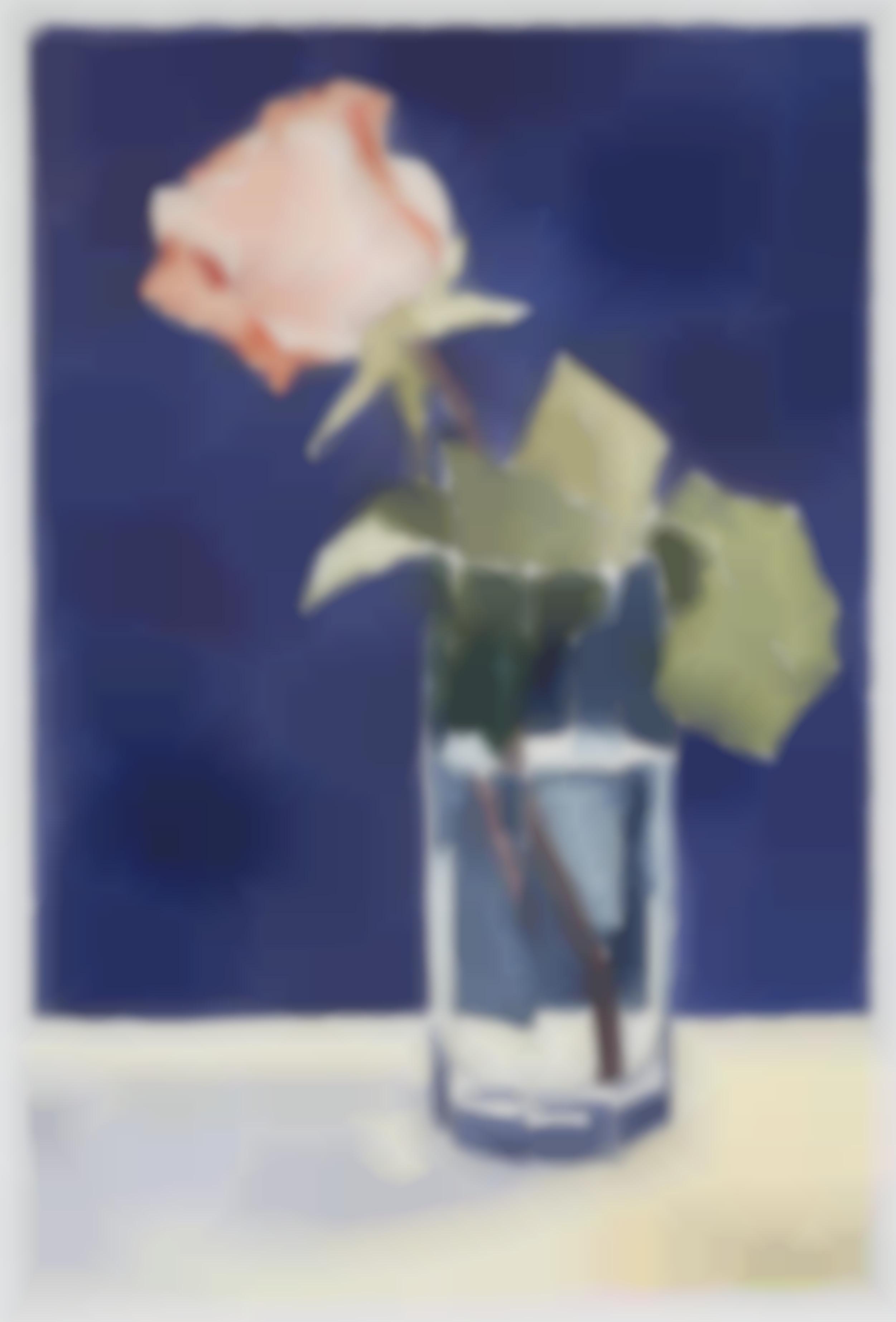 Reiner Wagner - Aufgebluhte Rose Nach Links (Rose in bloom to the left)-1997