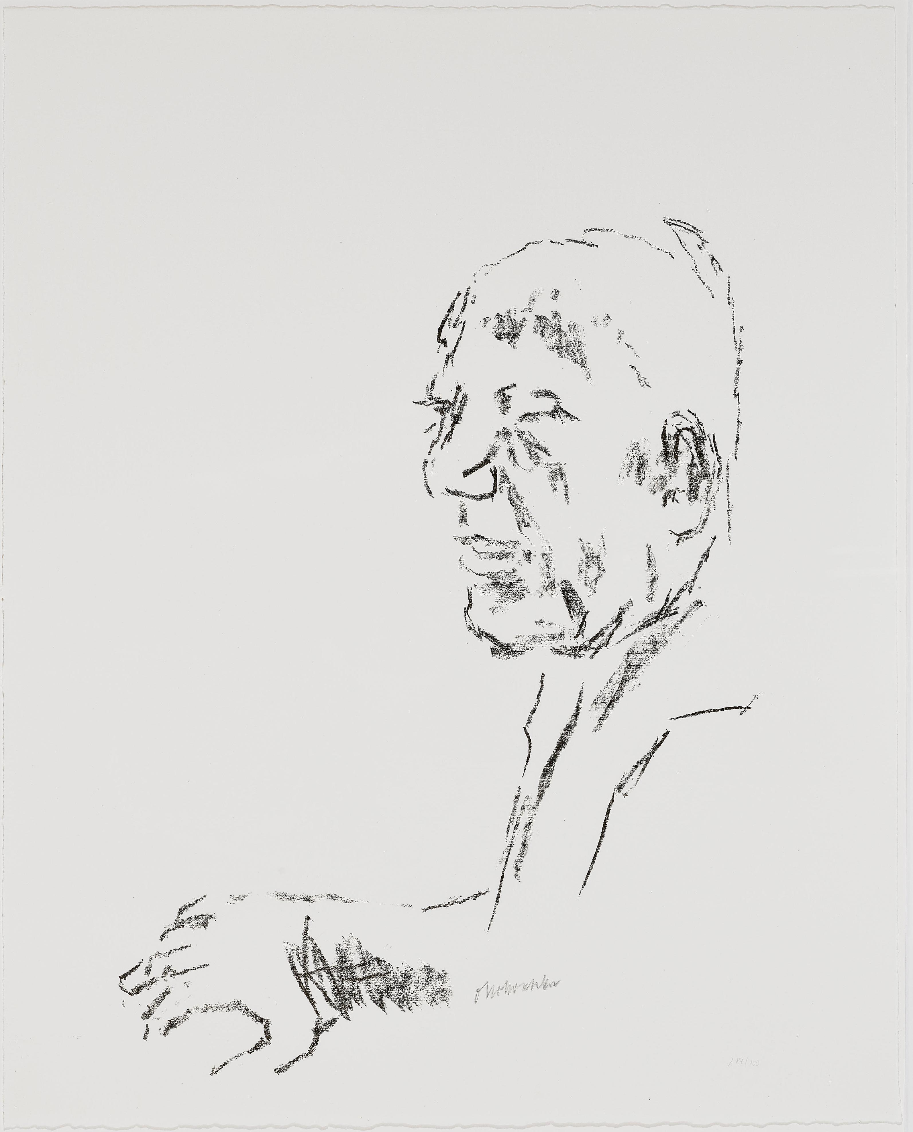 Oskar Kokoschka-Selbstportrat Aus Comenius - Figuren Und Szenen Des Dramas (Self-Portrait)-1975