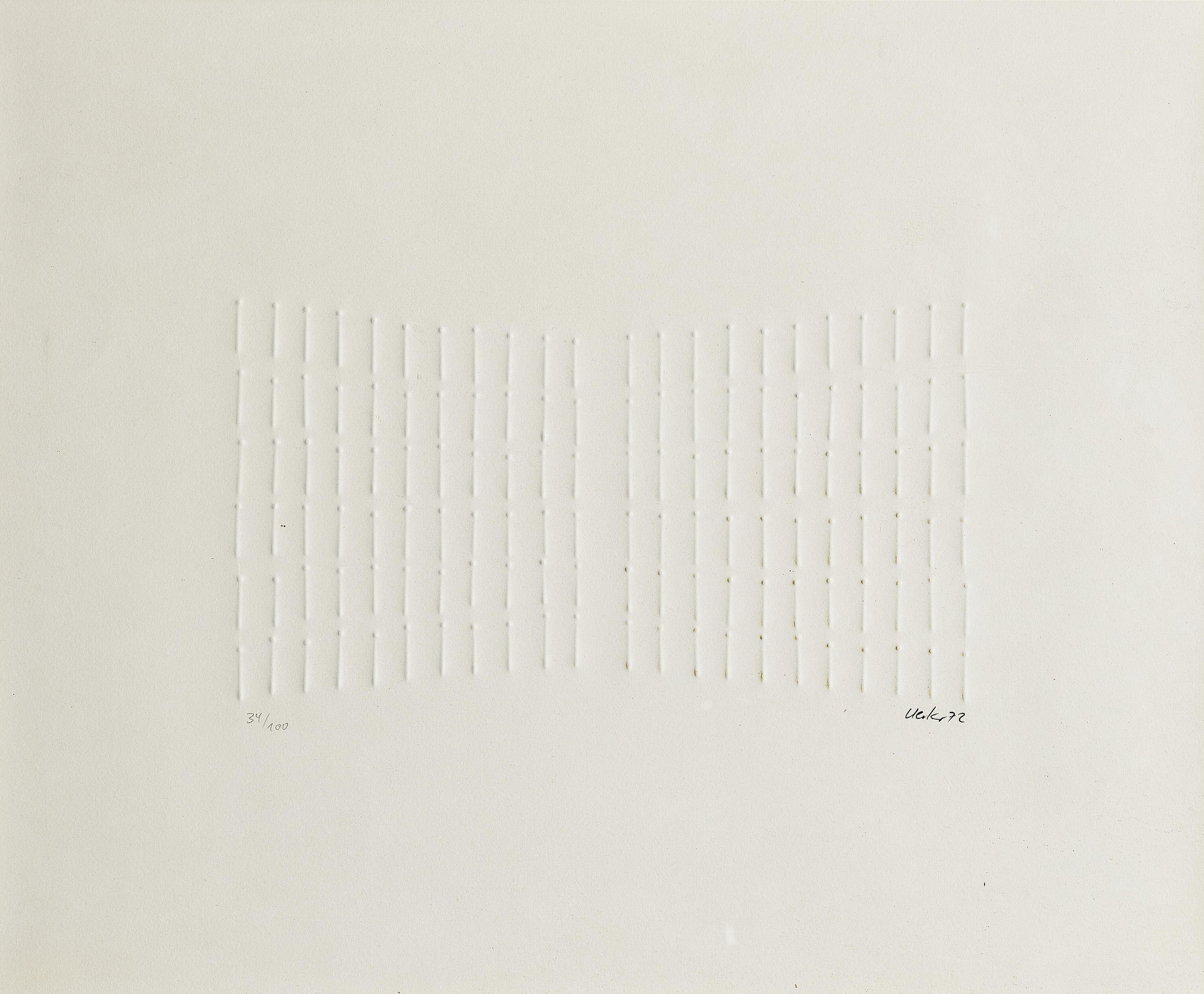 Gunther Uecker-Reihung (Sequence)-1972