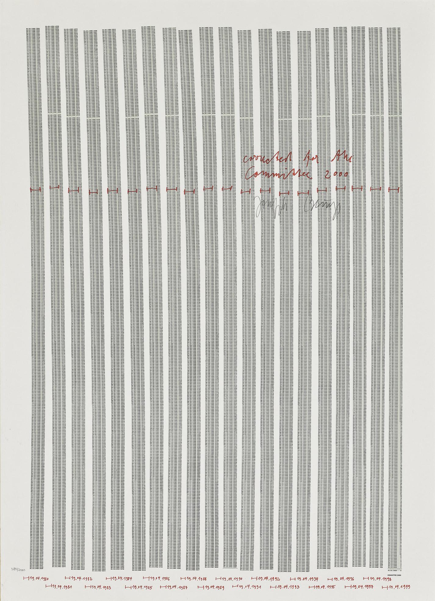 Joseph Beuys-Countdown 2000-1981