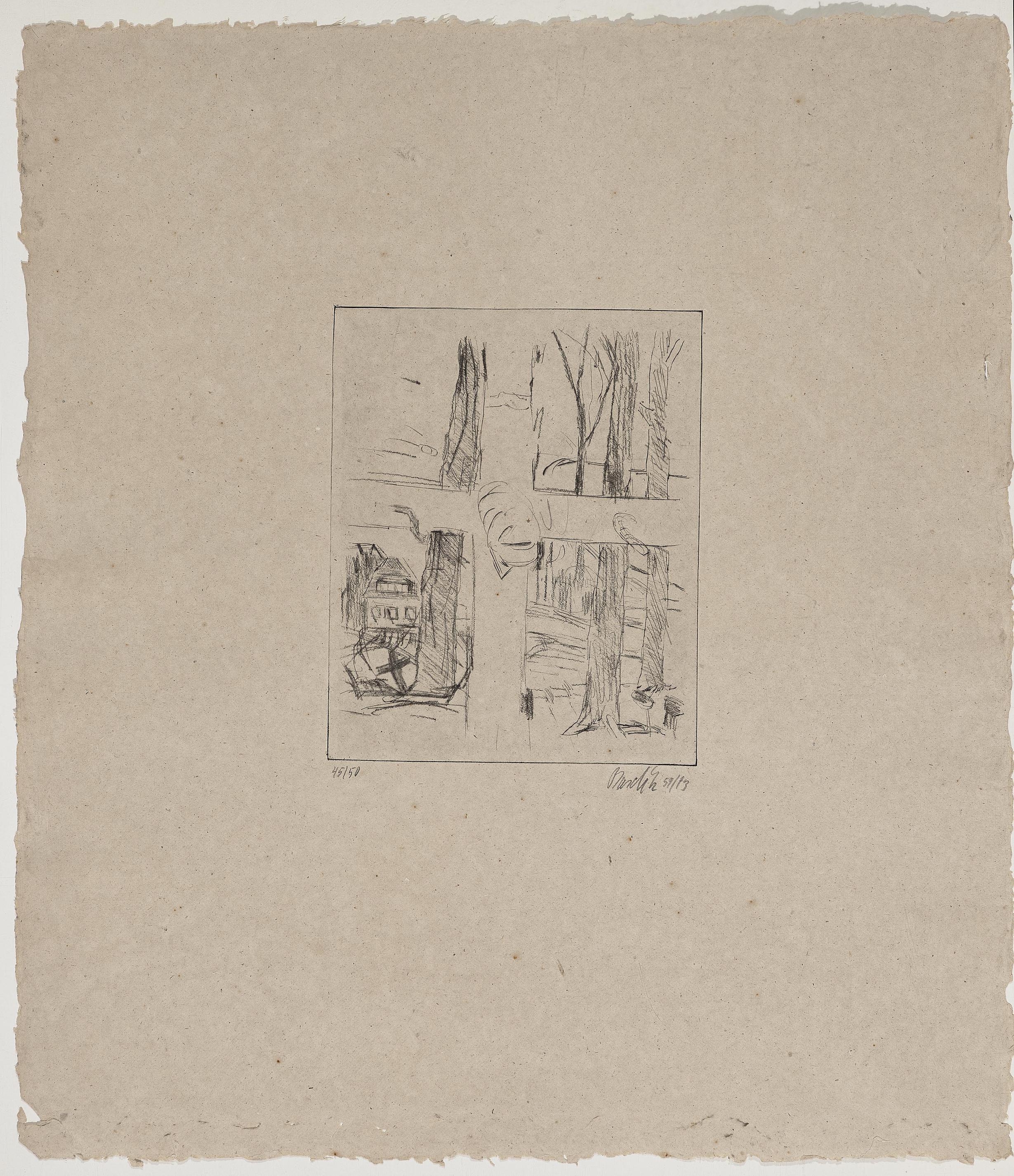 Georg Baselitz-Kreuz (Cross)-1973