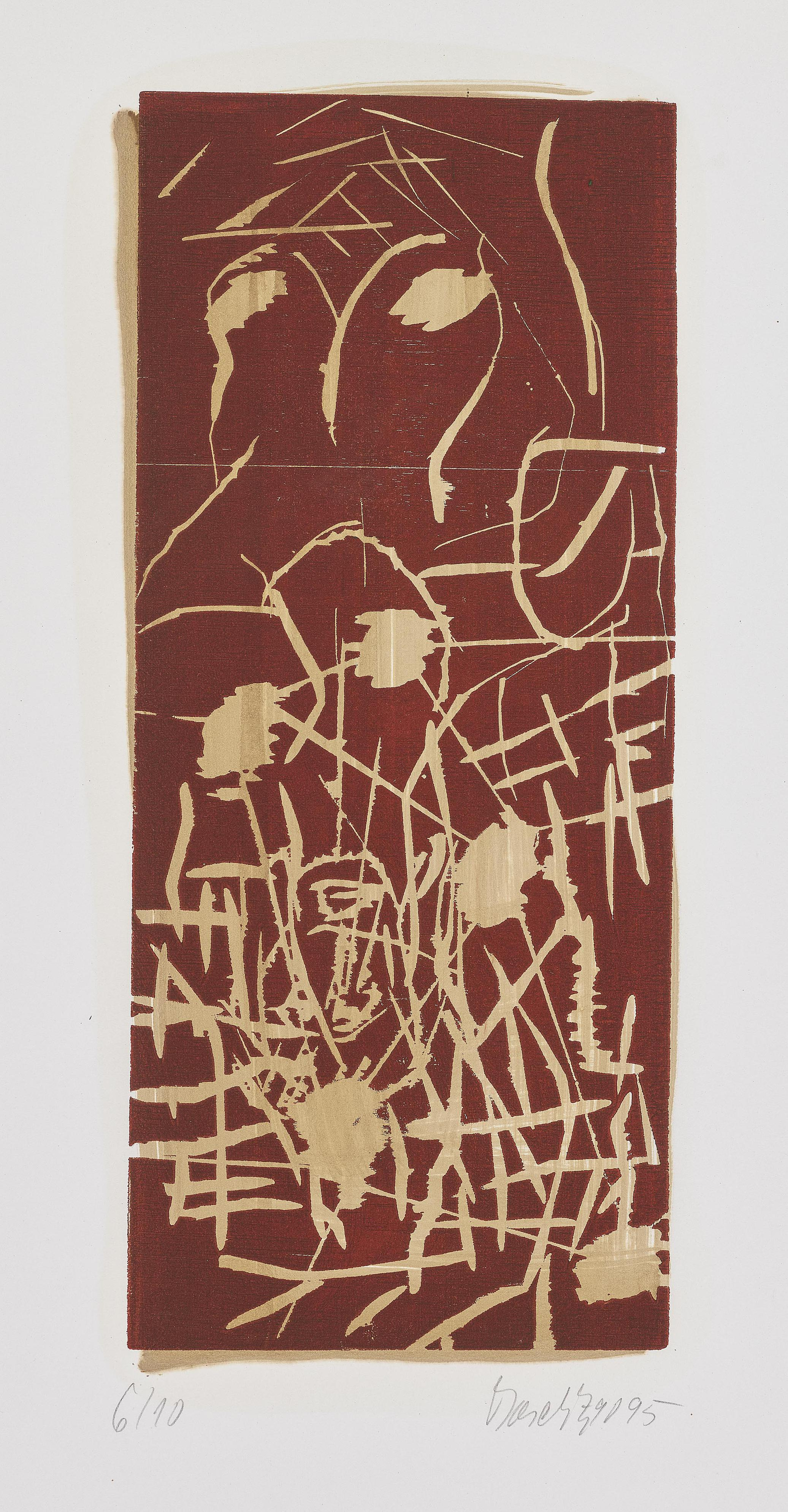 Georg Baselitz-Margeriten (Daisies)-1995