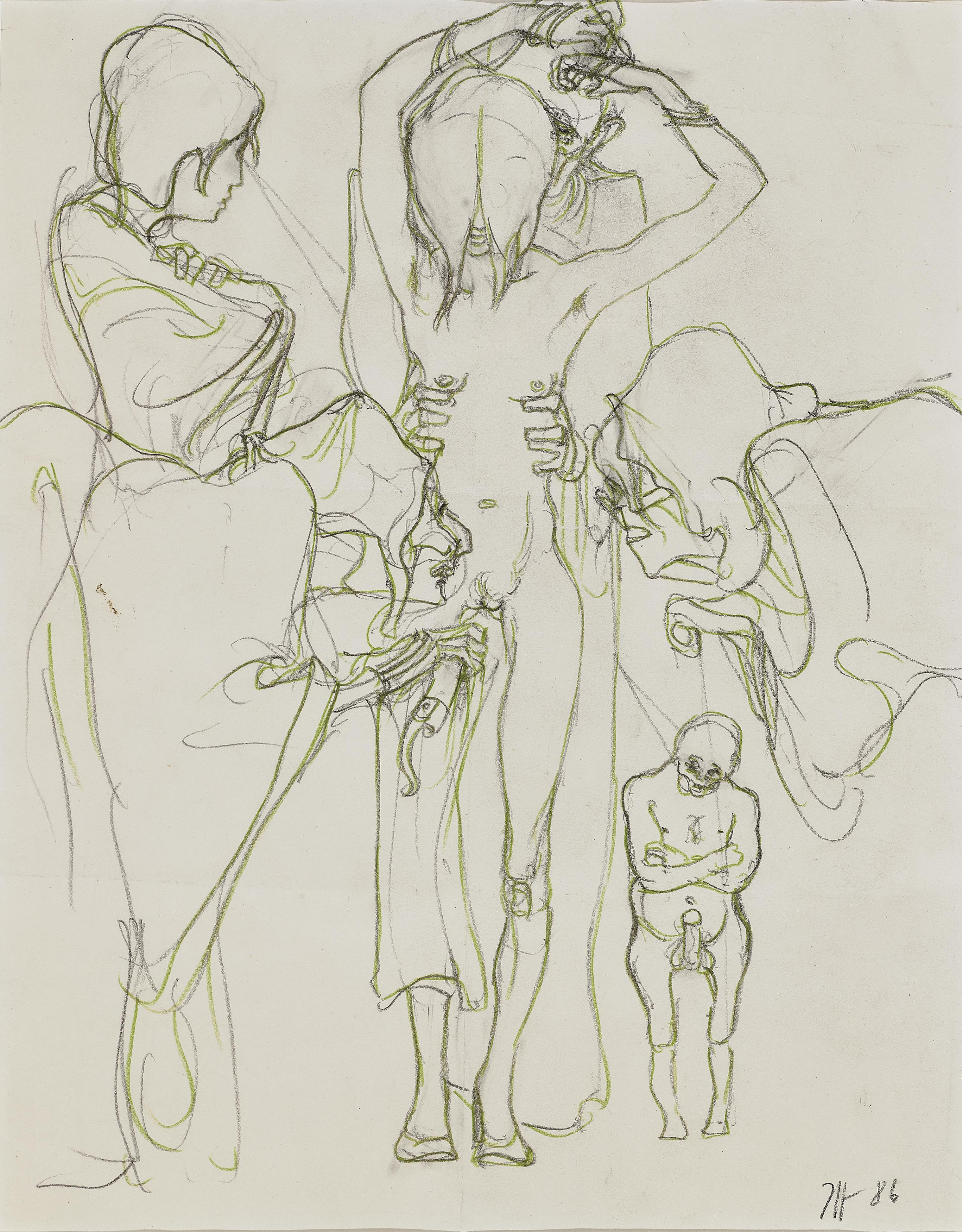 Horst Janssen-Ohne Titel (Untitled)-1986