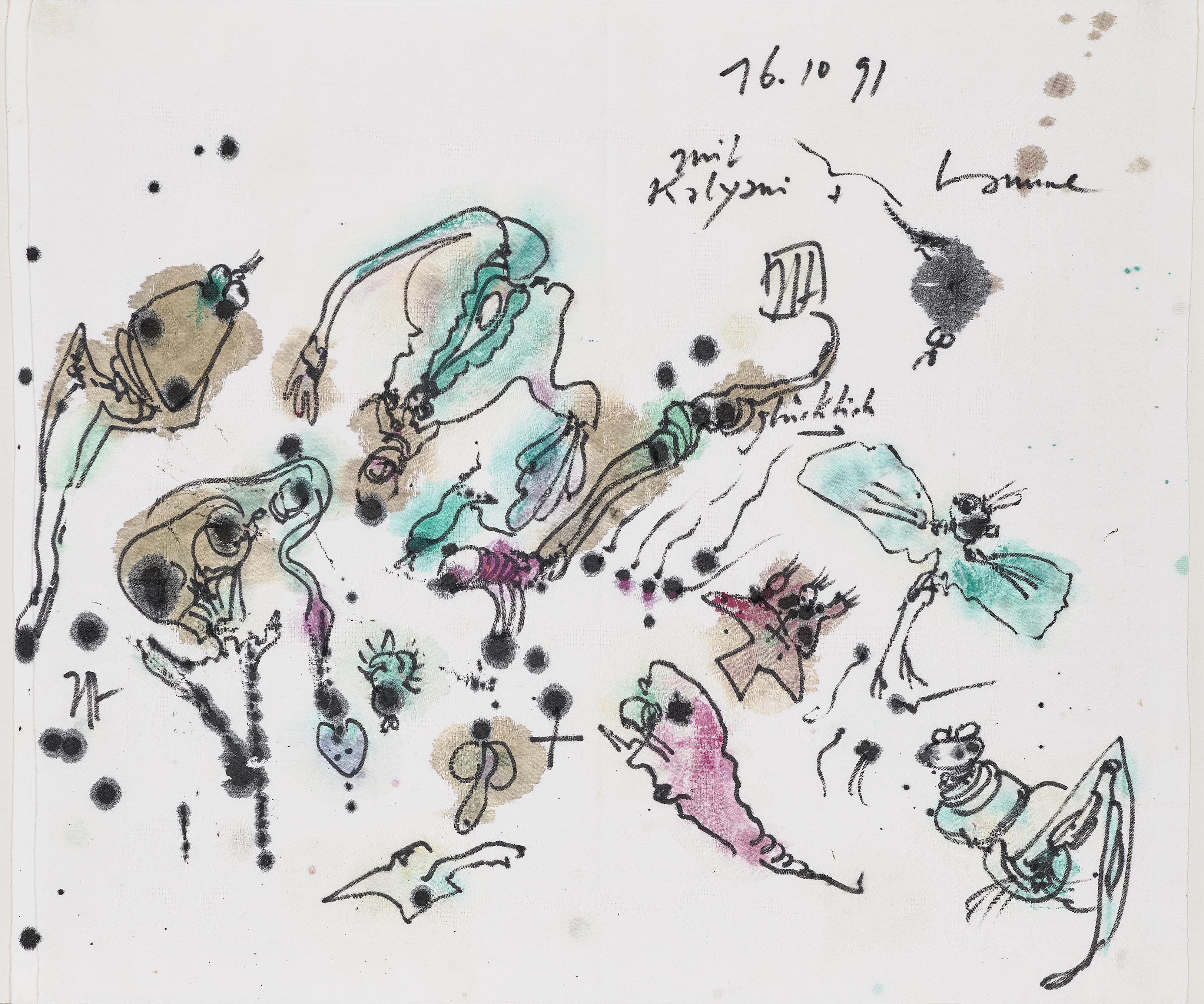 Horst Janssen-Amphibientanz (Dance of the Amphibians)-1991
