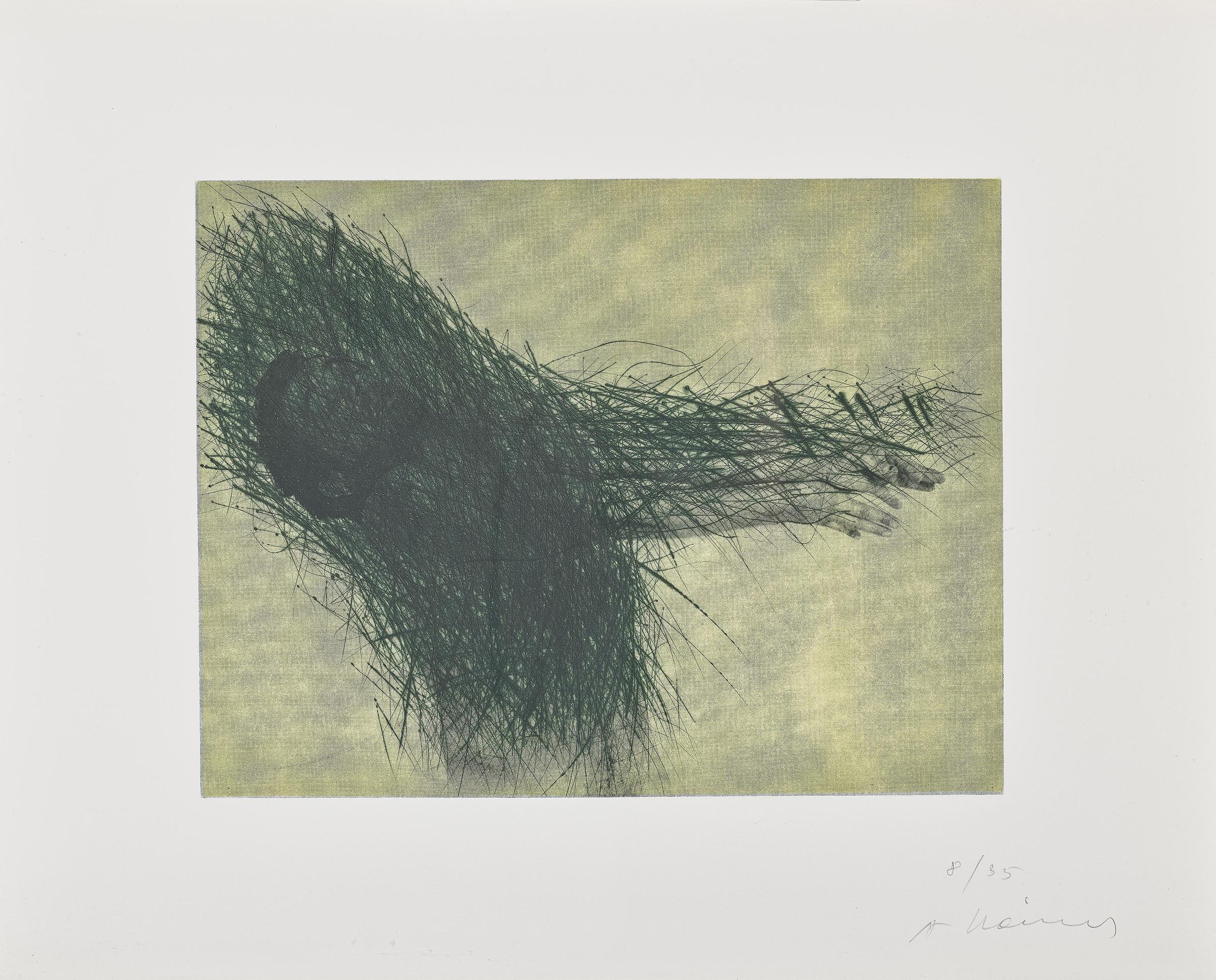 Arnulf Rainer-Selbst Als Blinder (Self-portrait as a blind man)-1991