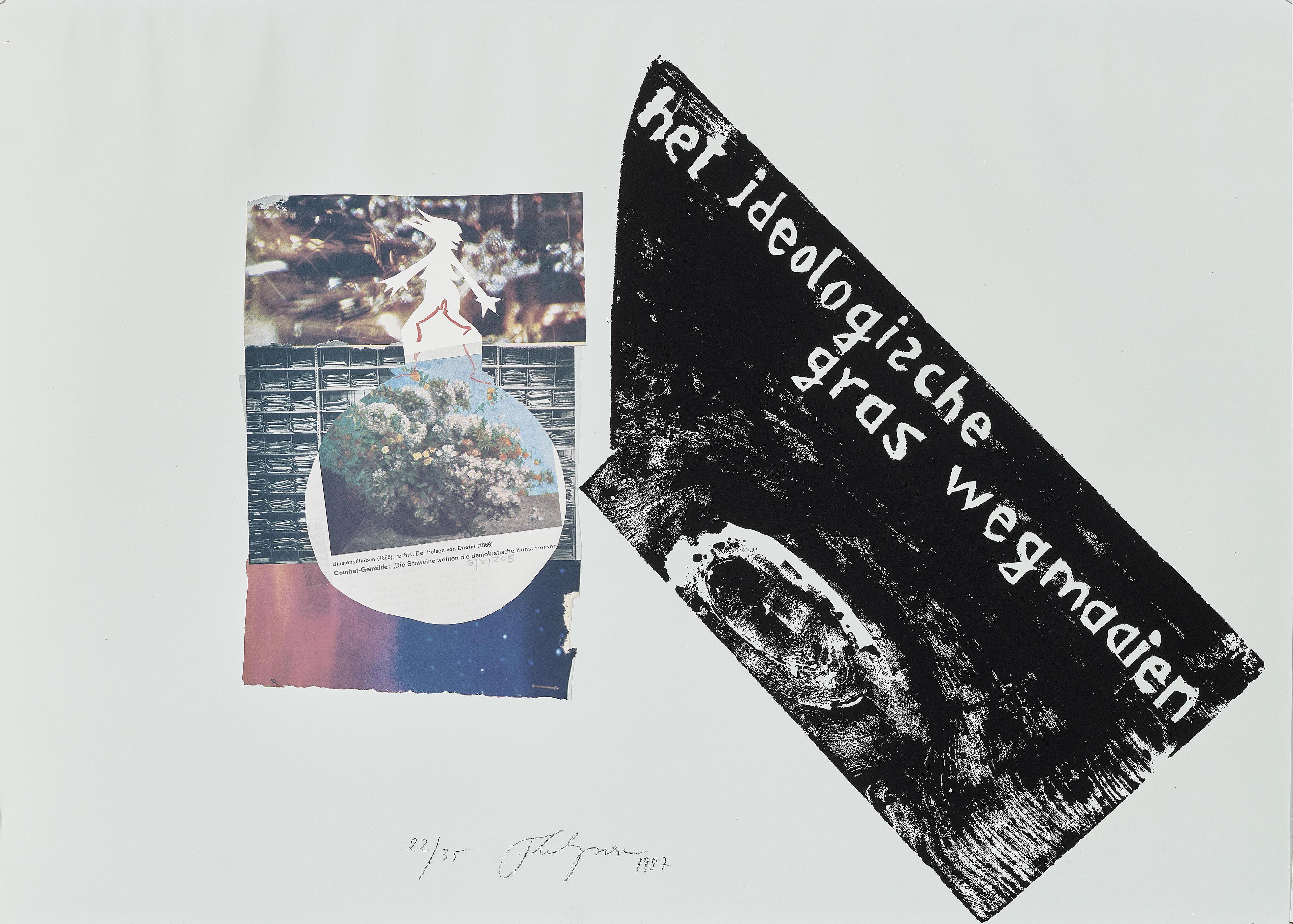 Felix Droese - Het Ideologische Gras Wegmaaien. Edition Staeck Heidelberg-1987