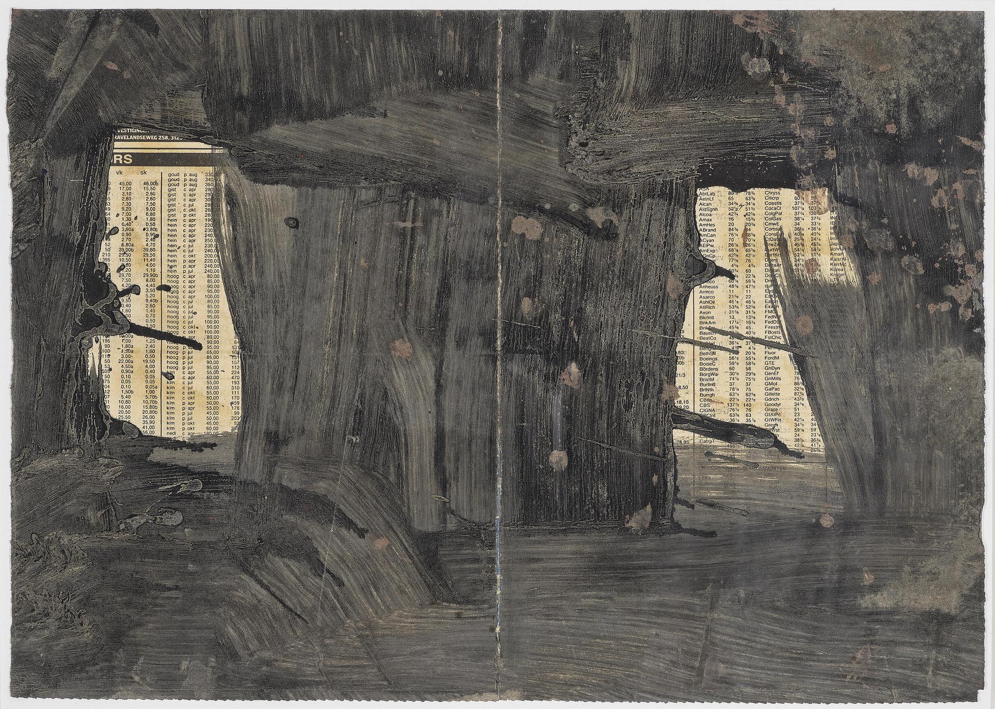 Felix Droese - 2 Blatt. Ohne Titel - Landschaft (2 sheets. Untitled - Landscape)-1989