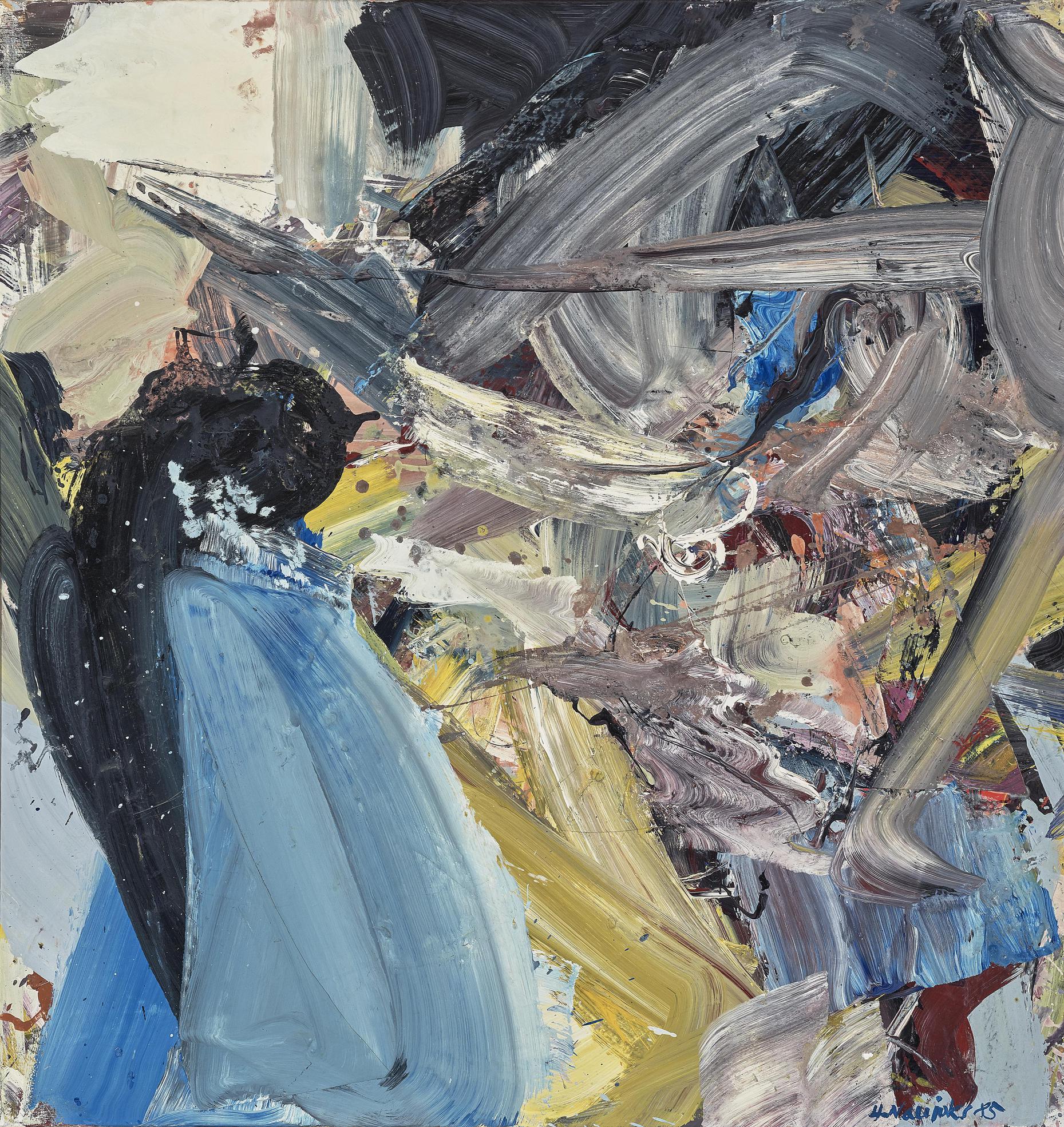 Heino Naujoks - Abstrakte Komposition (Abstract Composition)-1985