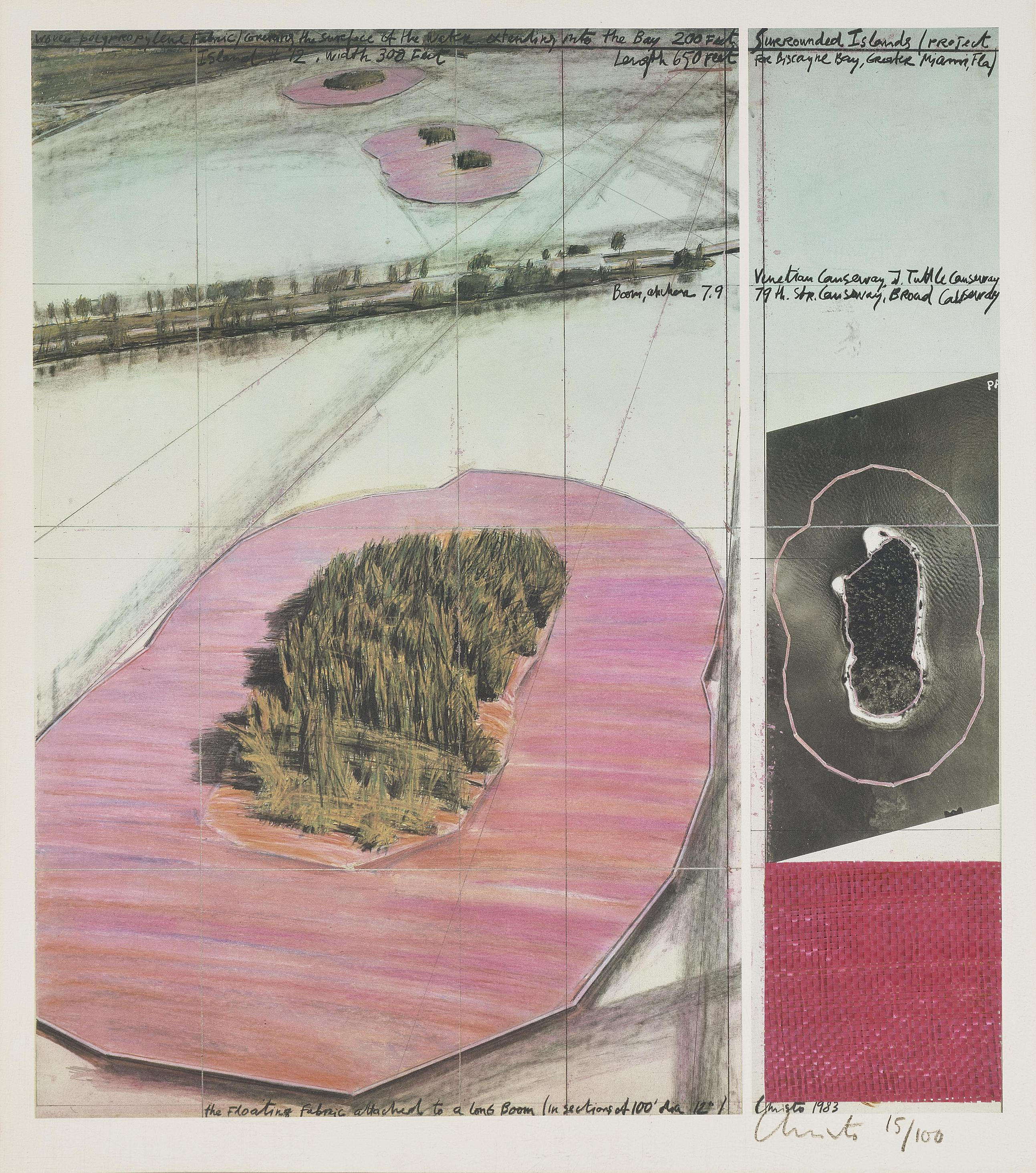 Christo and Jeanne-Claude-Christo (Eigentlich Christo Javacheff) - Surrounded Islands. Projekt Fur Biscayne Bay, Greater Miami, Florida-1985