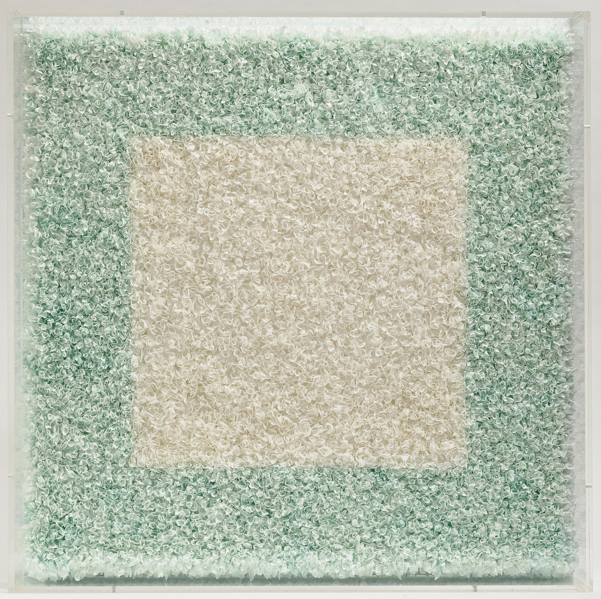 Lore Bert - Weisses Quadrat (In Turkis, Klein)/A White Square (Small, in Turquoise)-2004