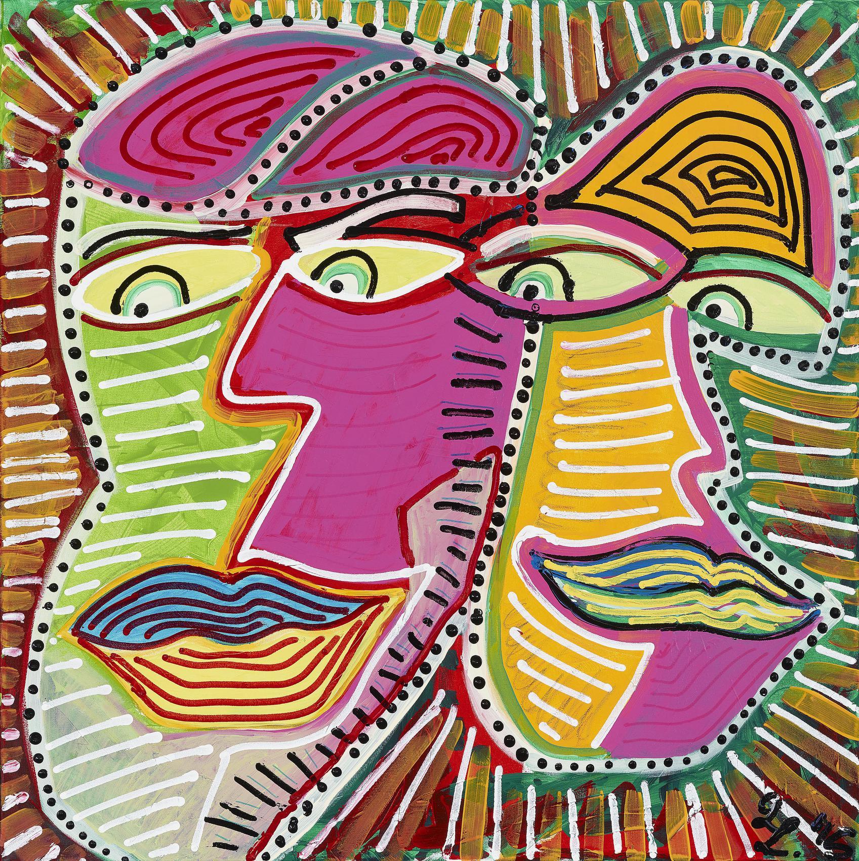 Leon Lowentraut - Ohne Titel (Menschenmasken) / Untitled (Human Masks)-2015